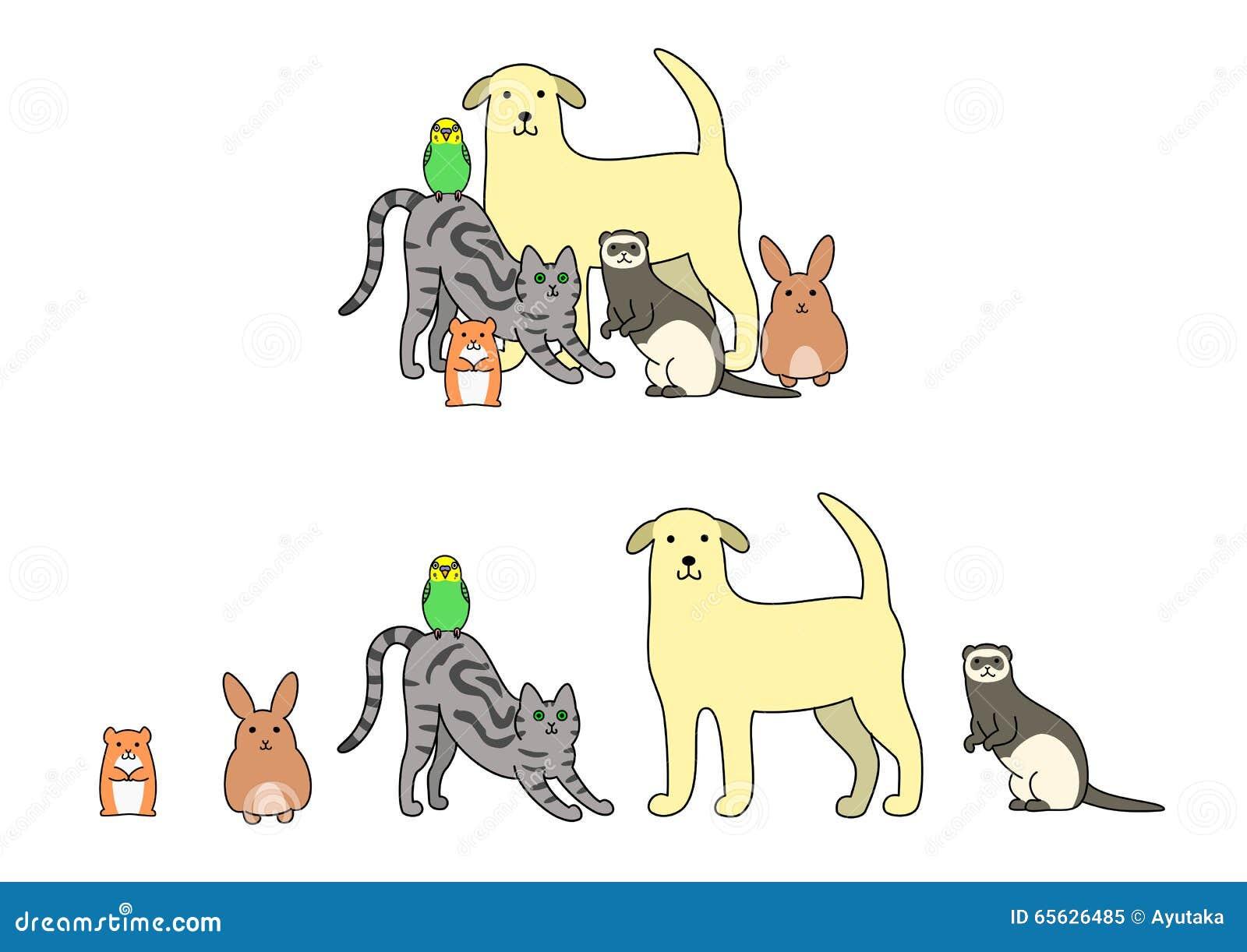 Ensemble d illustration d animaux familiers