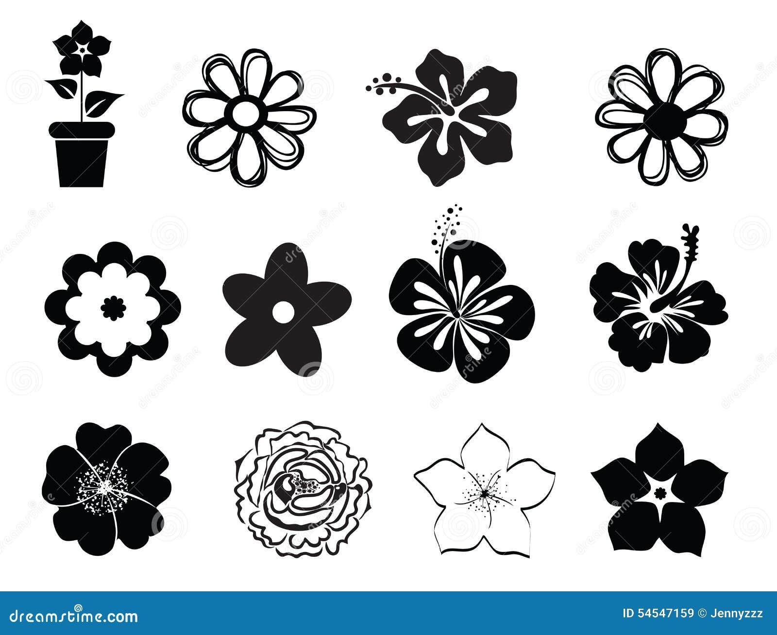 Fleur Illustration ensemble d'illustrations de fleur illustration de vecteur