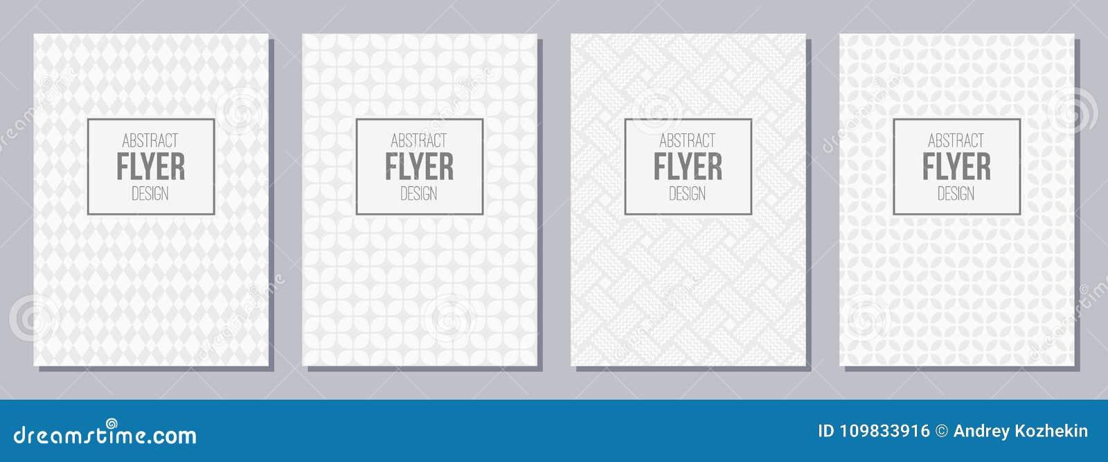 Ensemble d insecte, affiches, bannières, plaquettes, templa de conception de brochure