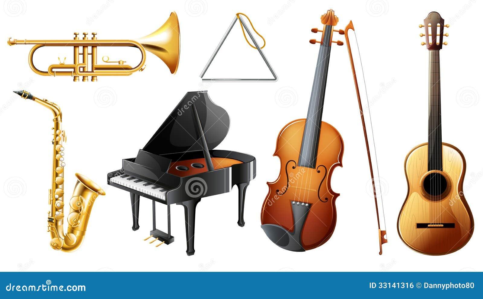 Ensemble d 39 instruments de musique image libre de droits image 33141316 - Photo d instrument de musique ...