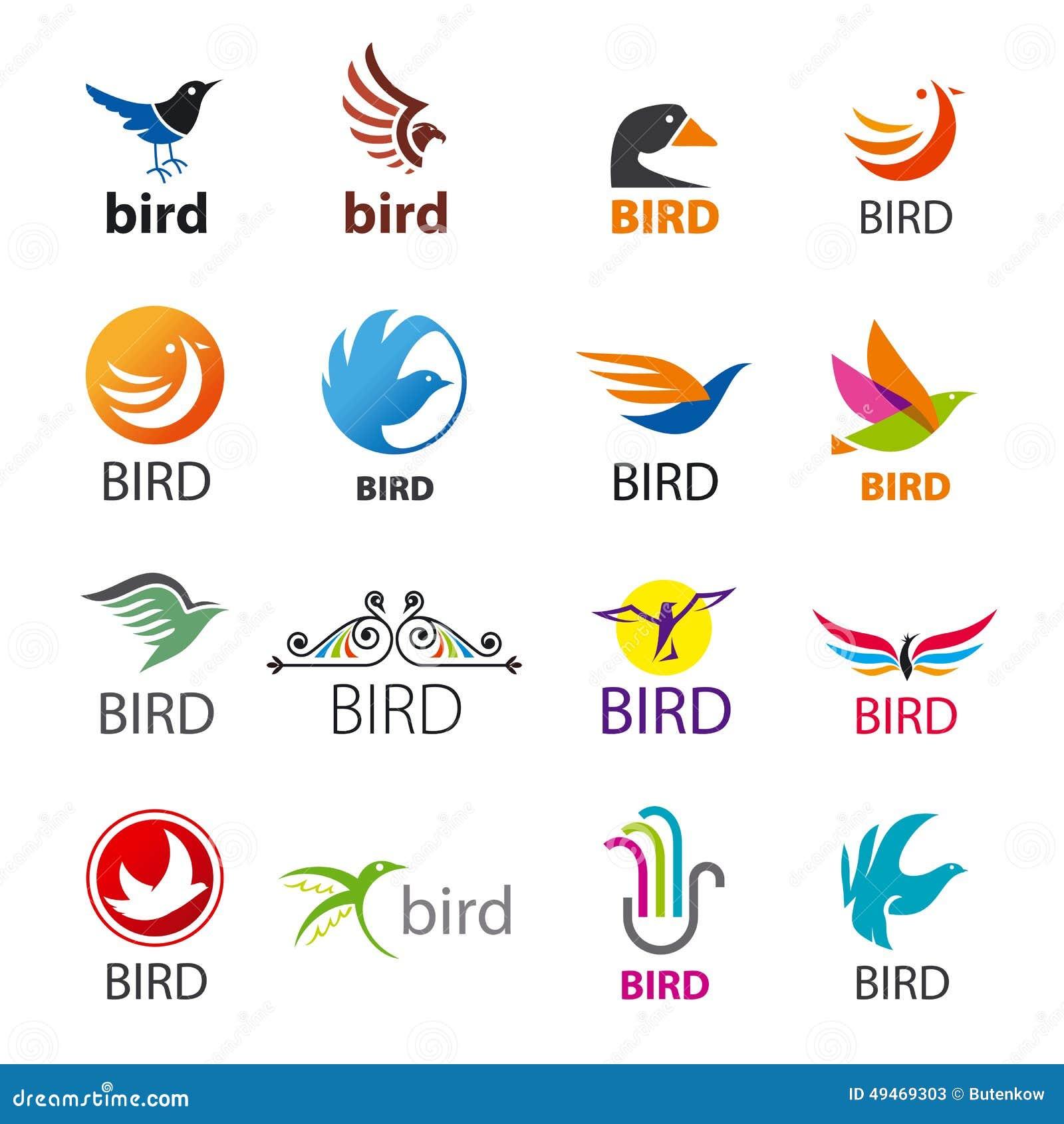 Ensemble d oiseaux de logos de vecteur