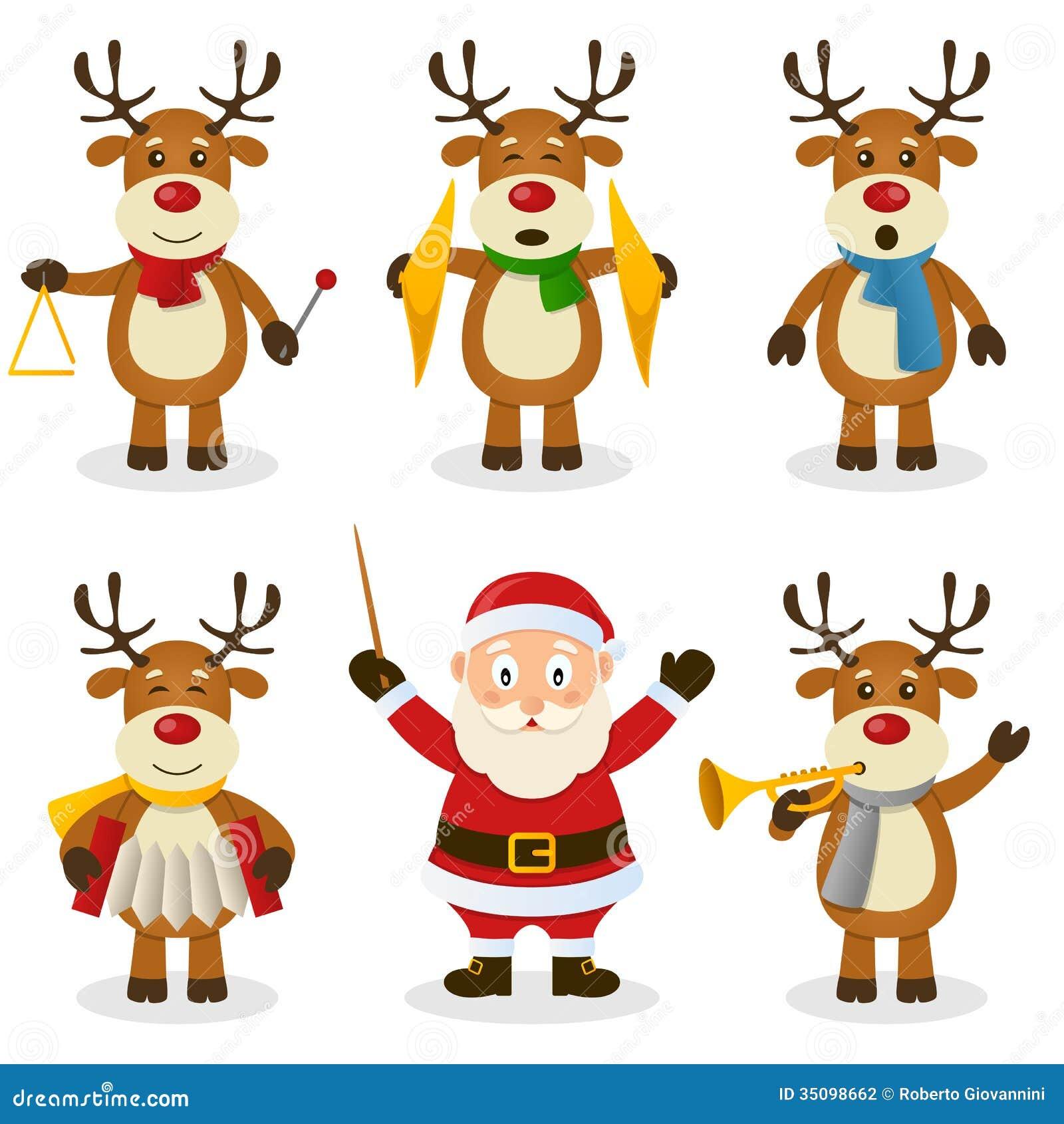 Ensemble d orchestre de Noël de renne