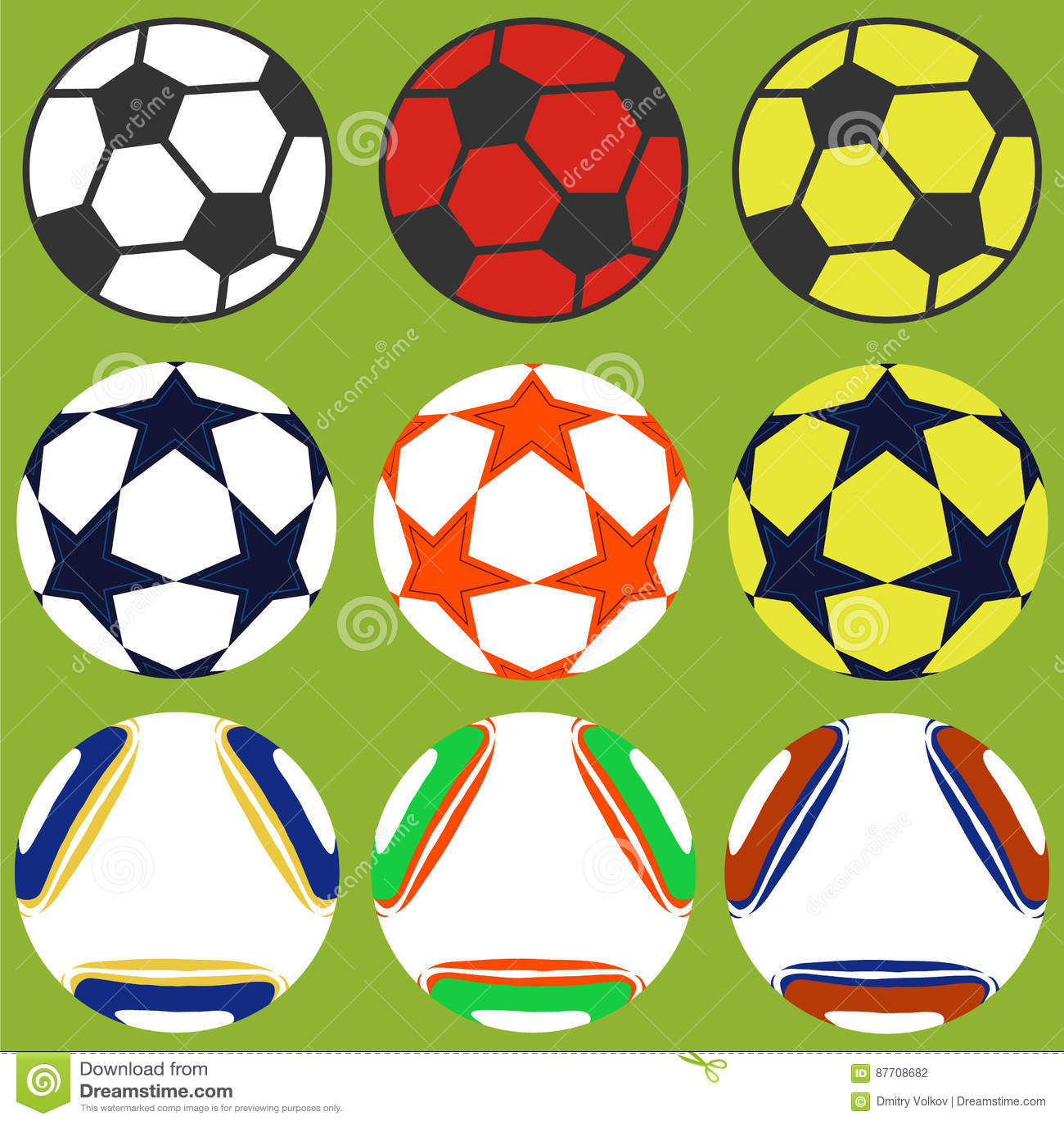 Ensemble de ballons de football