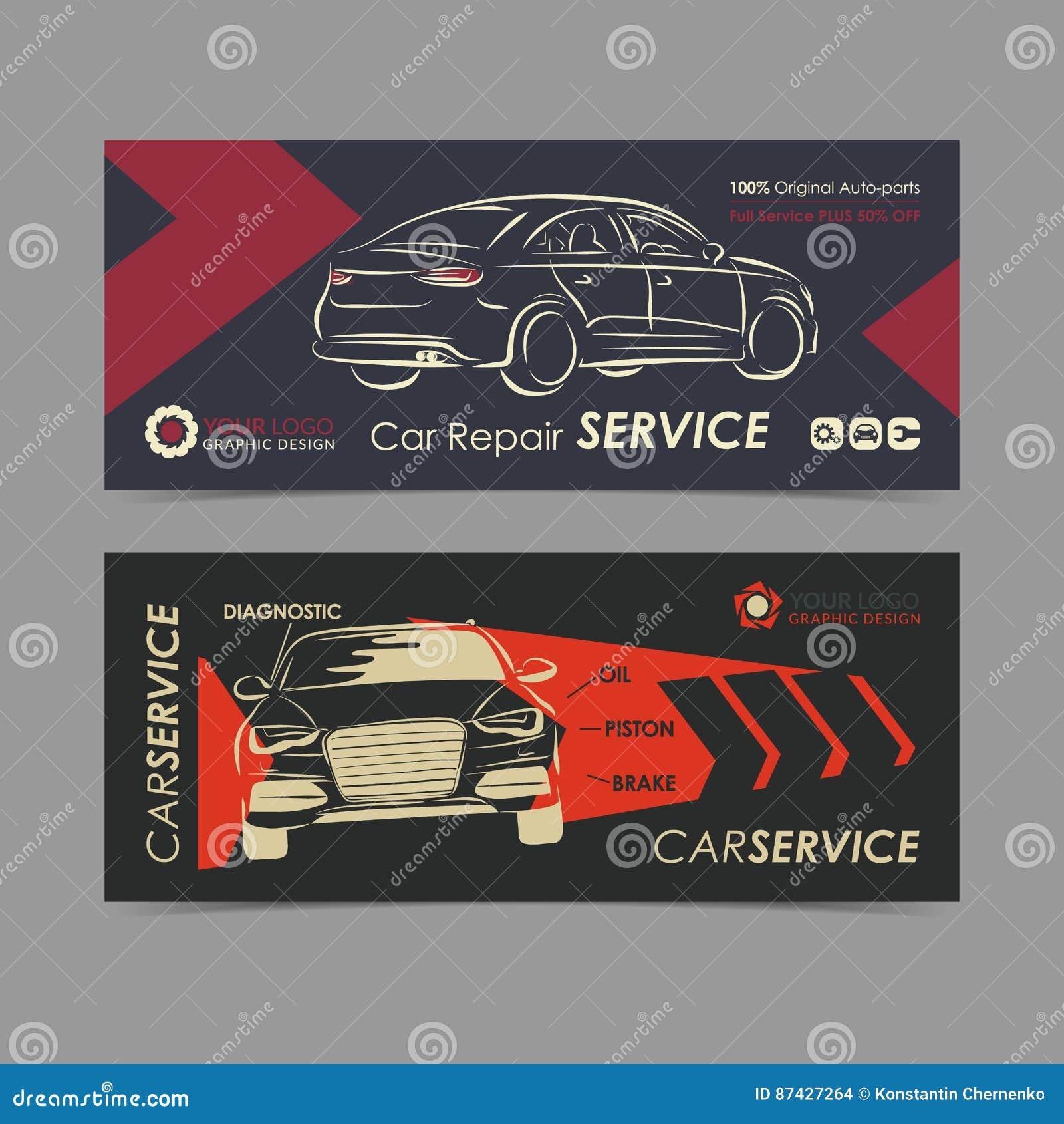 Ensemble de bannière automatique de service des réparations, affiche, insecte Calibres de disposition d entreprise de services de