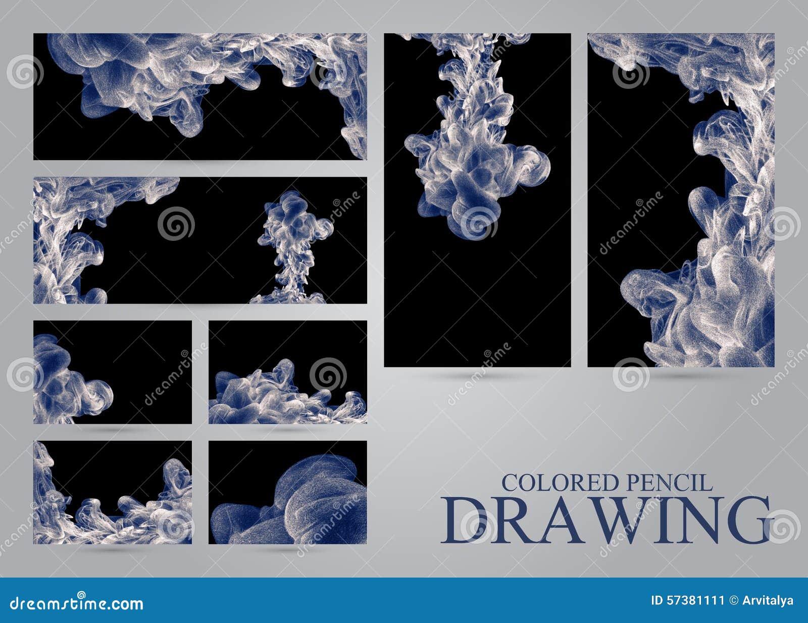 Aquarelle Dans Leau Holi Encre Liquide Dessin Au Crayon Place Pour Le Texte
