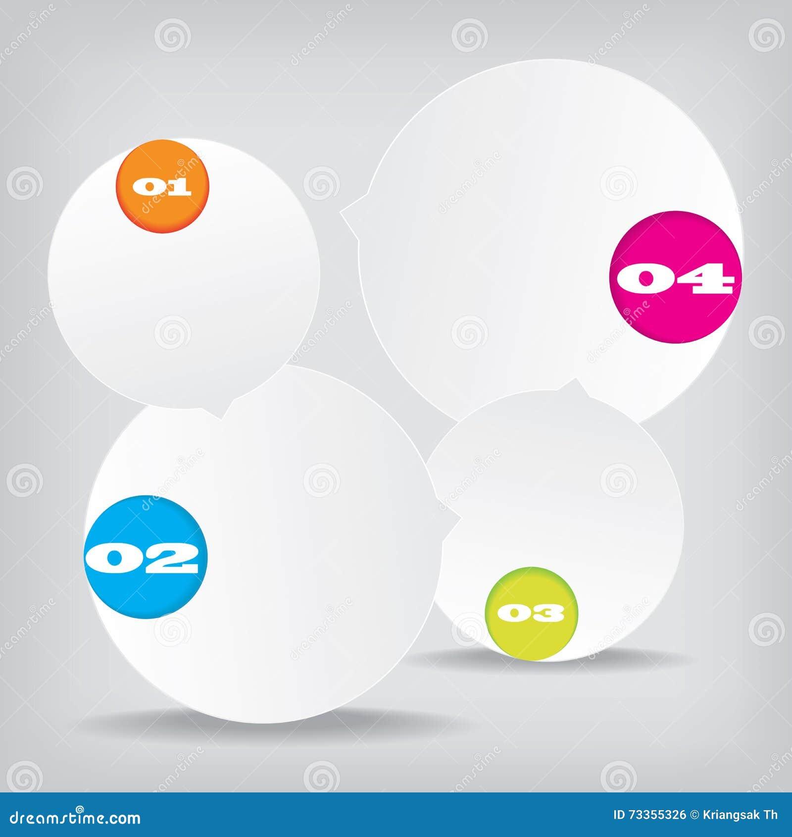 Ensemble de bannières propres de nombre de conception moderne utilisées pour la disposition de site Web Infographic