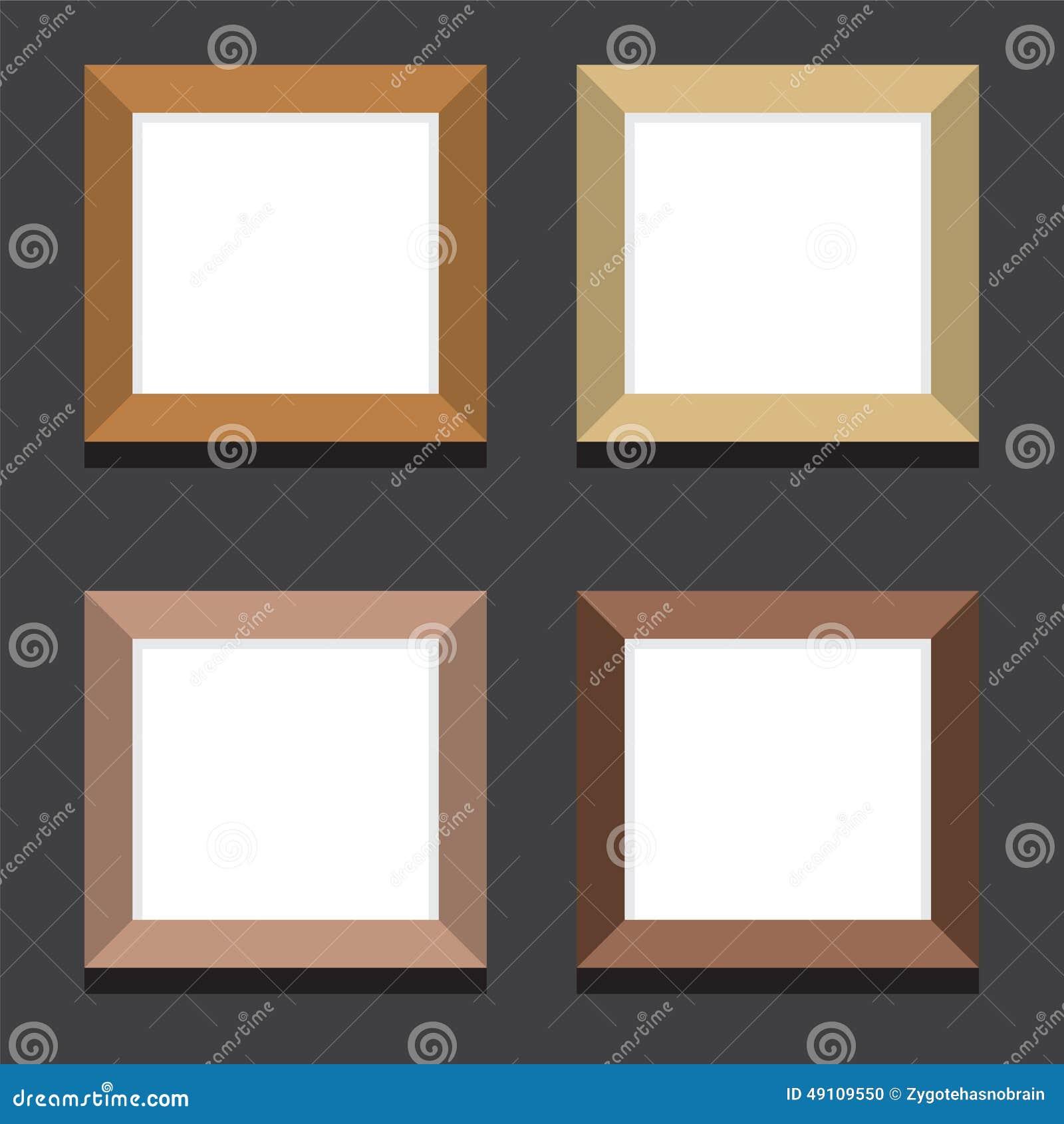 Ensemble de cadres de tableau carr s vides sur le fond - Image de cadre de tableau ...