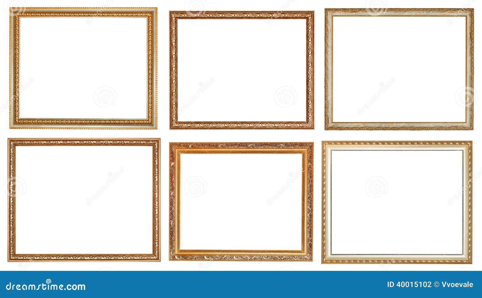 ensemble de cadres de tableau en bois classiques antiques. Black Bedroom Furniture Sets. Home Design Ideas