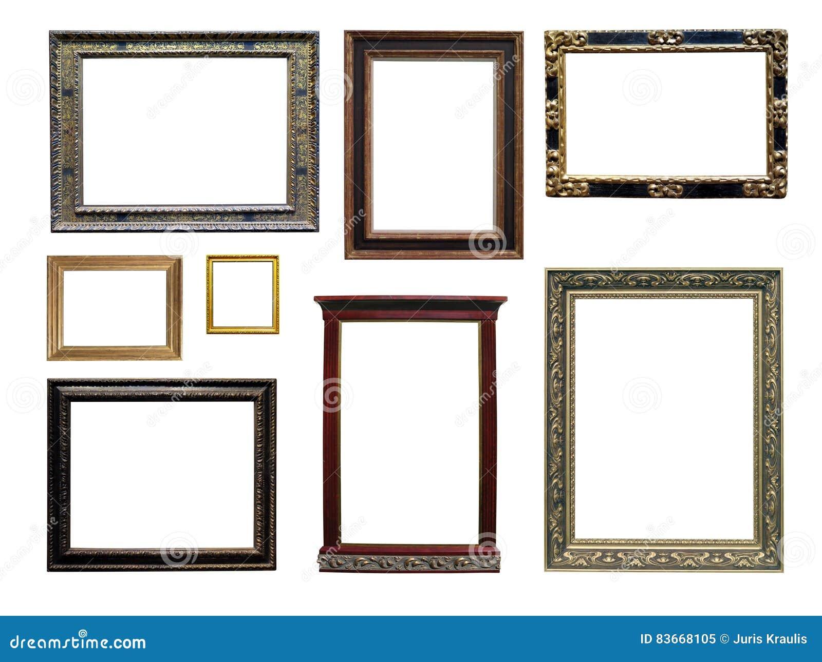 ensemble de cadres vides de photos stock inscription. Black Bedroom Furniture Sets. Home Design Ideas