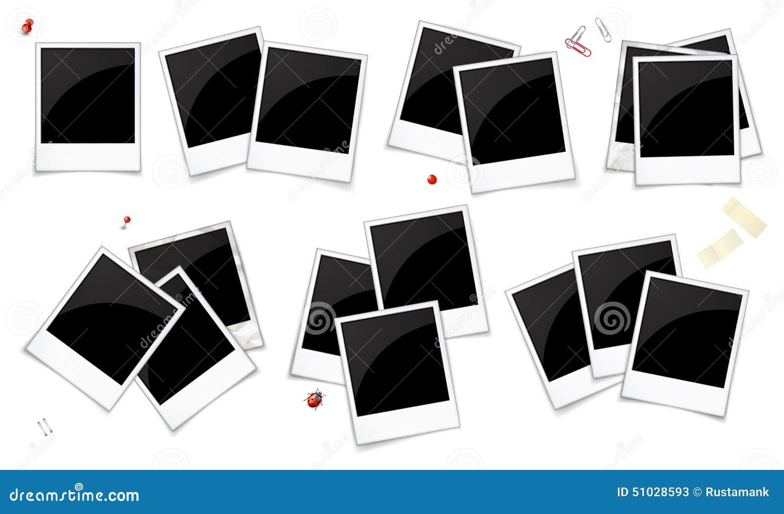 ensemble de cadres vides de photo illustration de vecteur. Black Bedroom Furniture Sets. Home Design Ideas