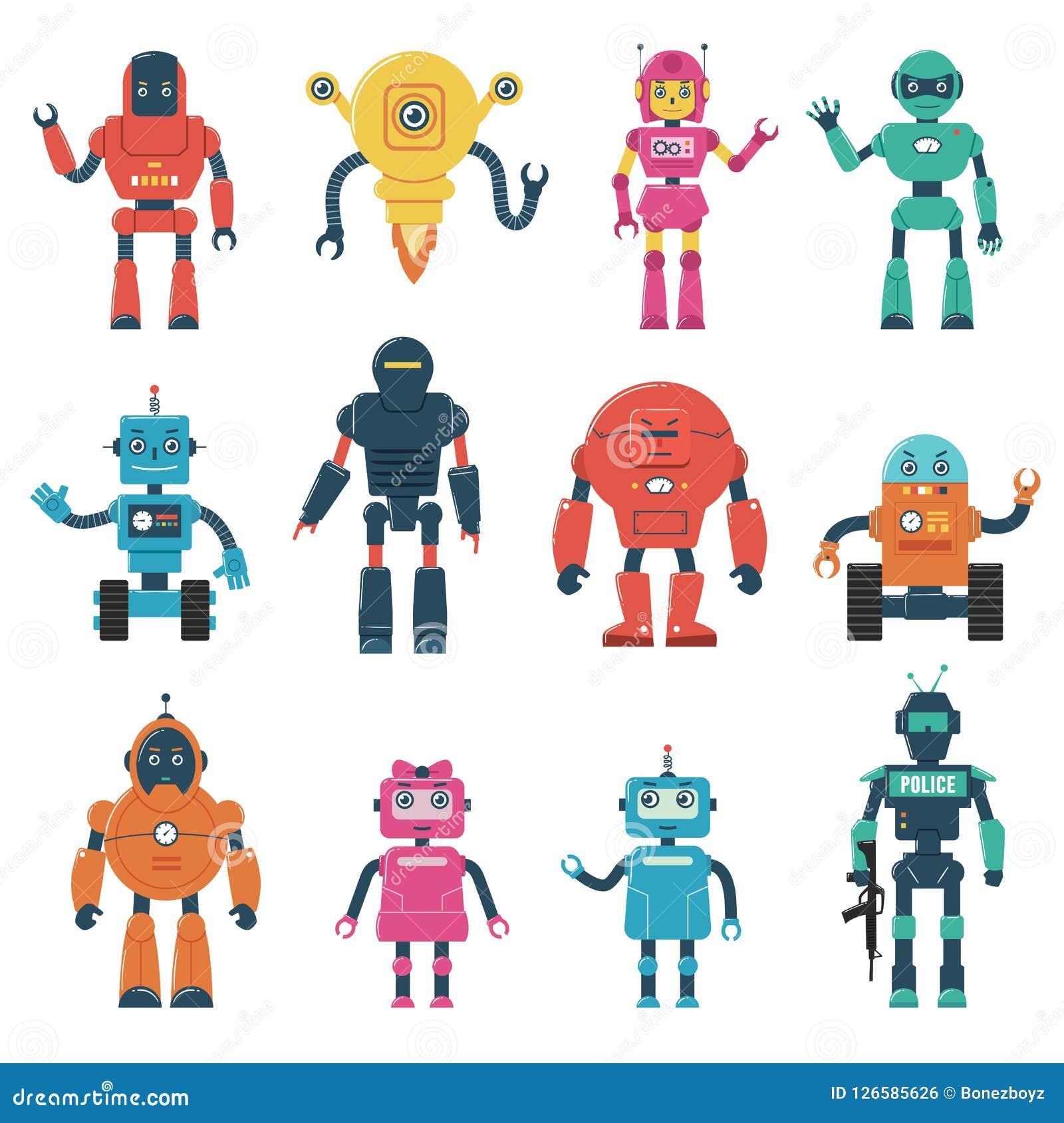 Ensemble de caractères de robot