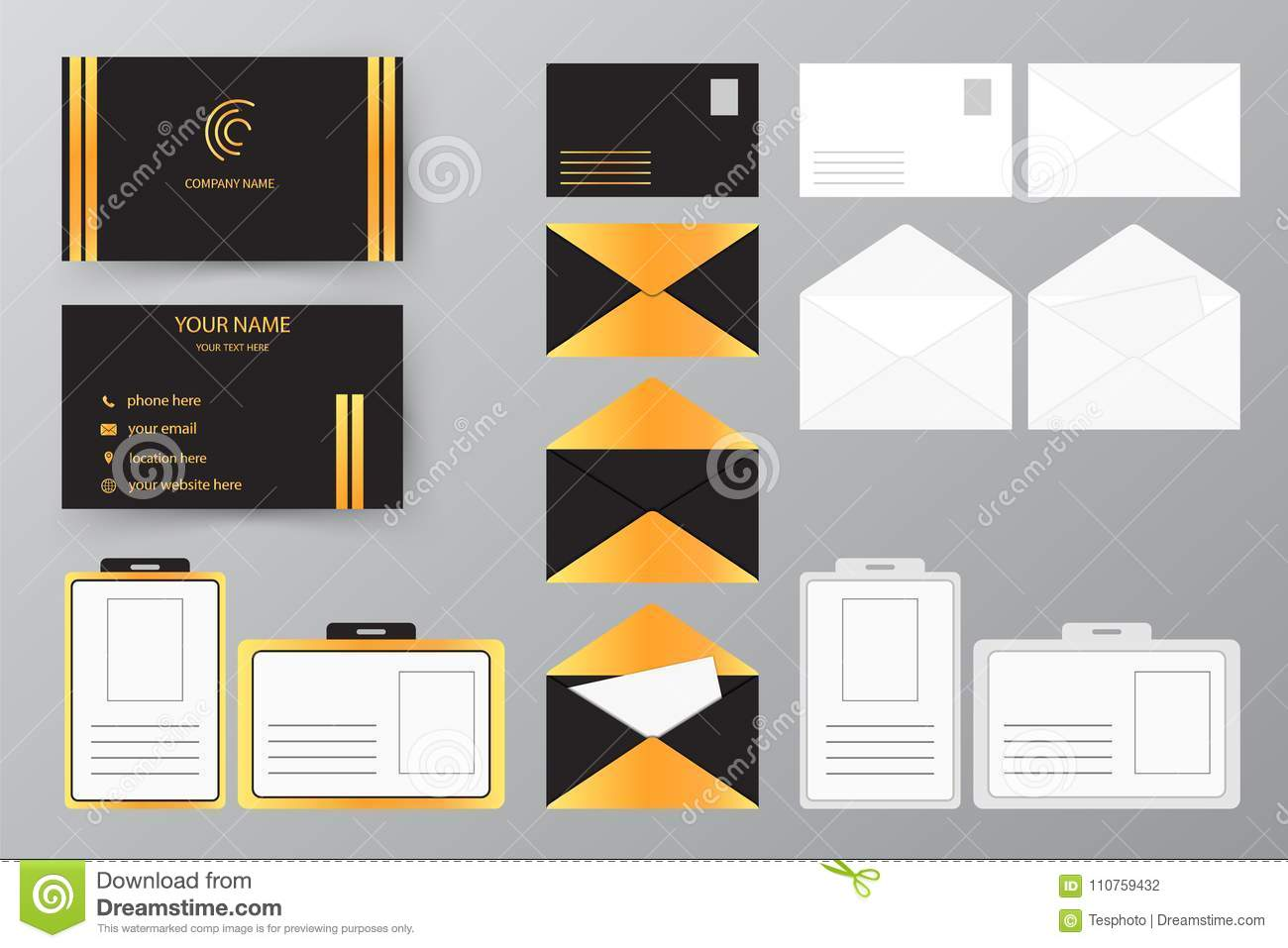 Collection Personnelle De Style Conception Dillustration Vecteur Pour Des Affaires Et Lusage Personnel Ensemble Carte Visite Professionnelle