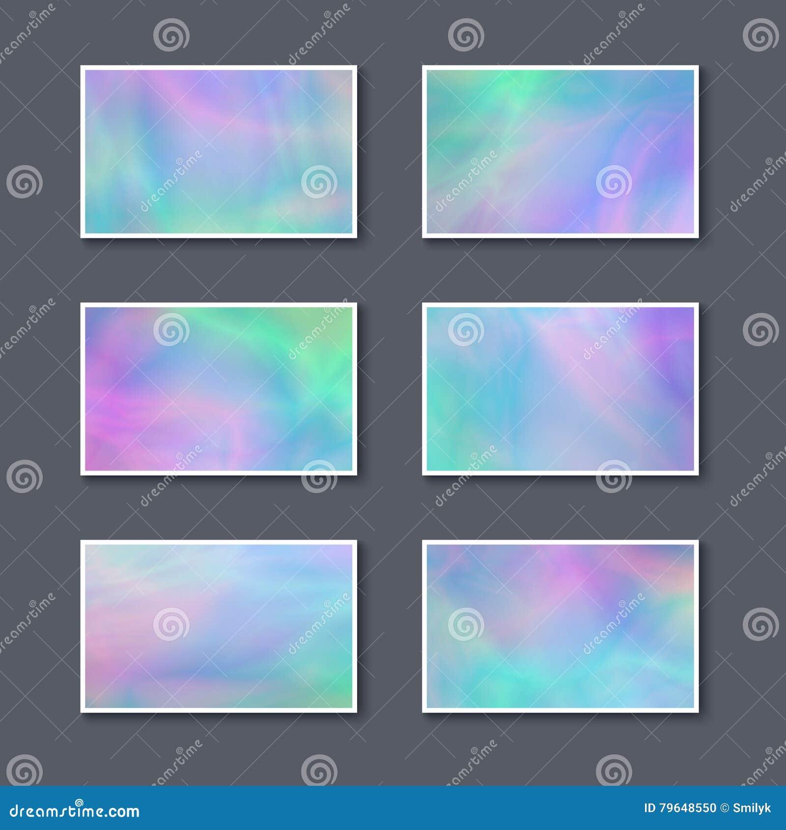 Download Ensemble De Cartes Visite Professionnelle Colores En Pastel Illustration Stock