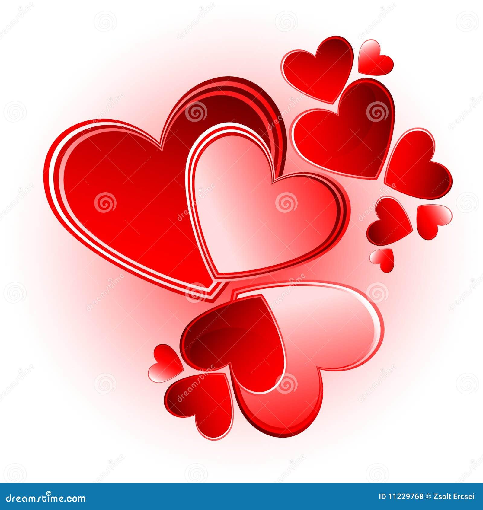 ensemble de coeurs de vecteur de valentine photos libres de droits image 11229768. Black Bedroom Furniture Sets. Home Design Ideas