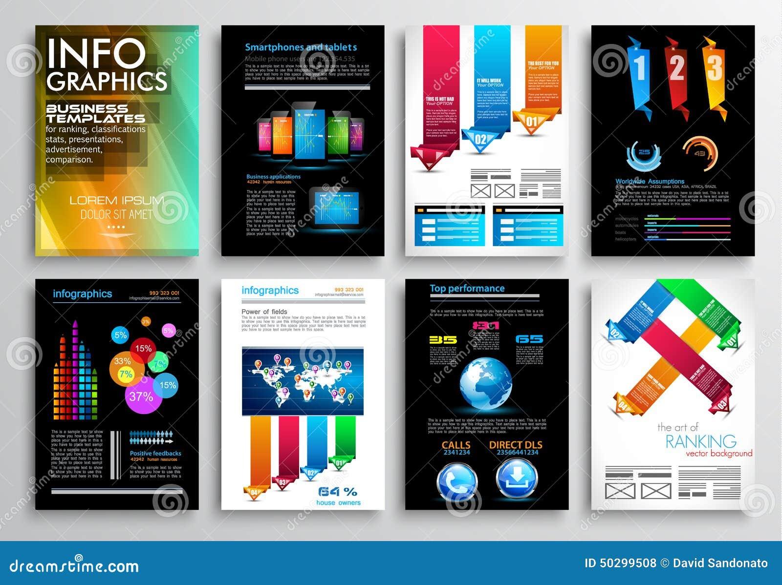 Ensemble de conception d insecte, calibres de Web Conceptions de brochure, milieux de technologie