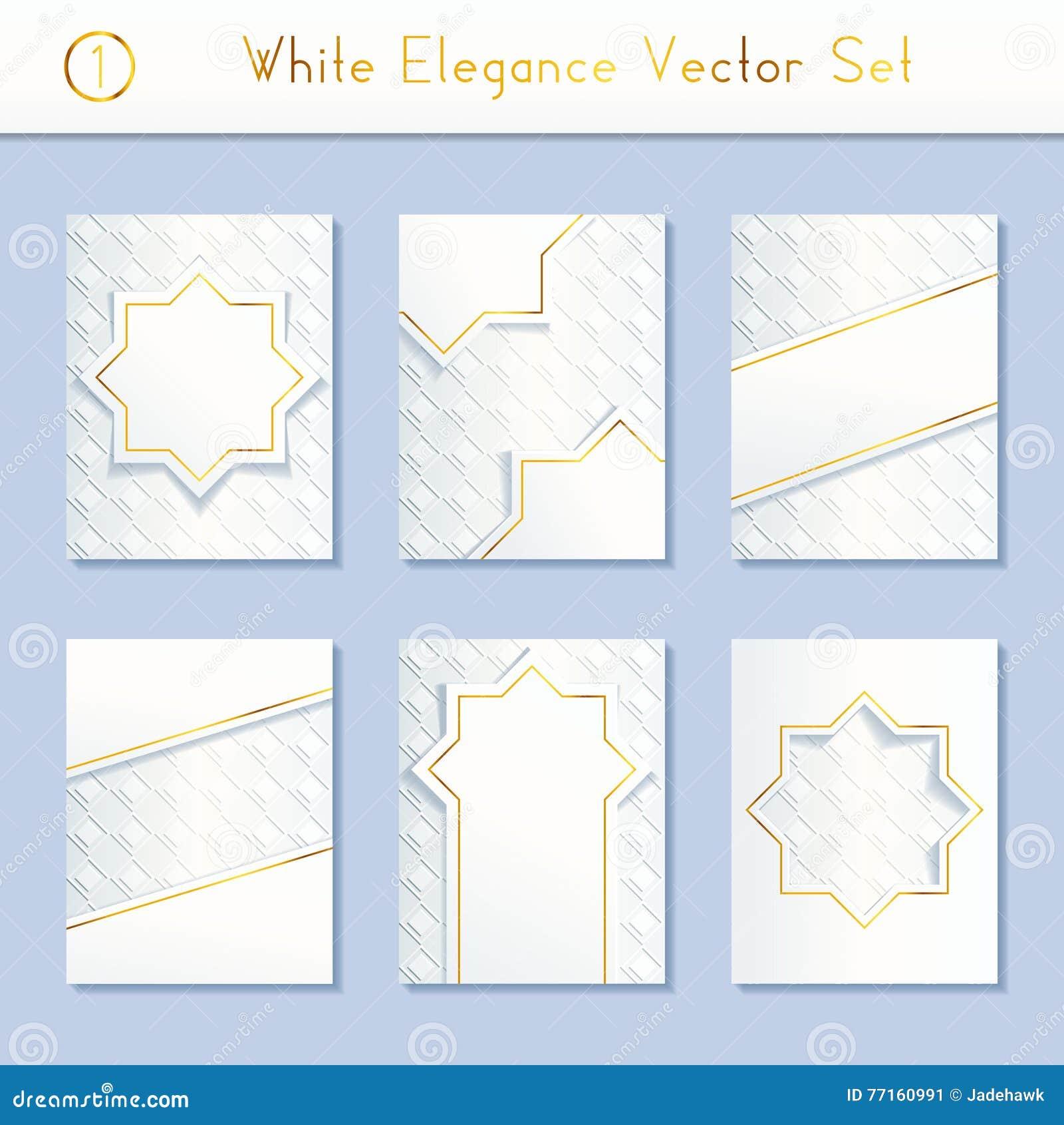 Ensemble de conceptions blanches complexes de brochure