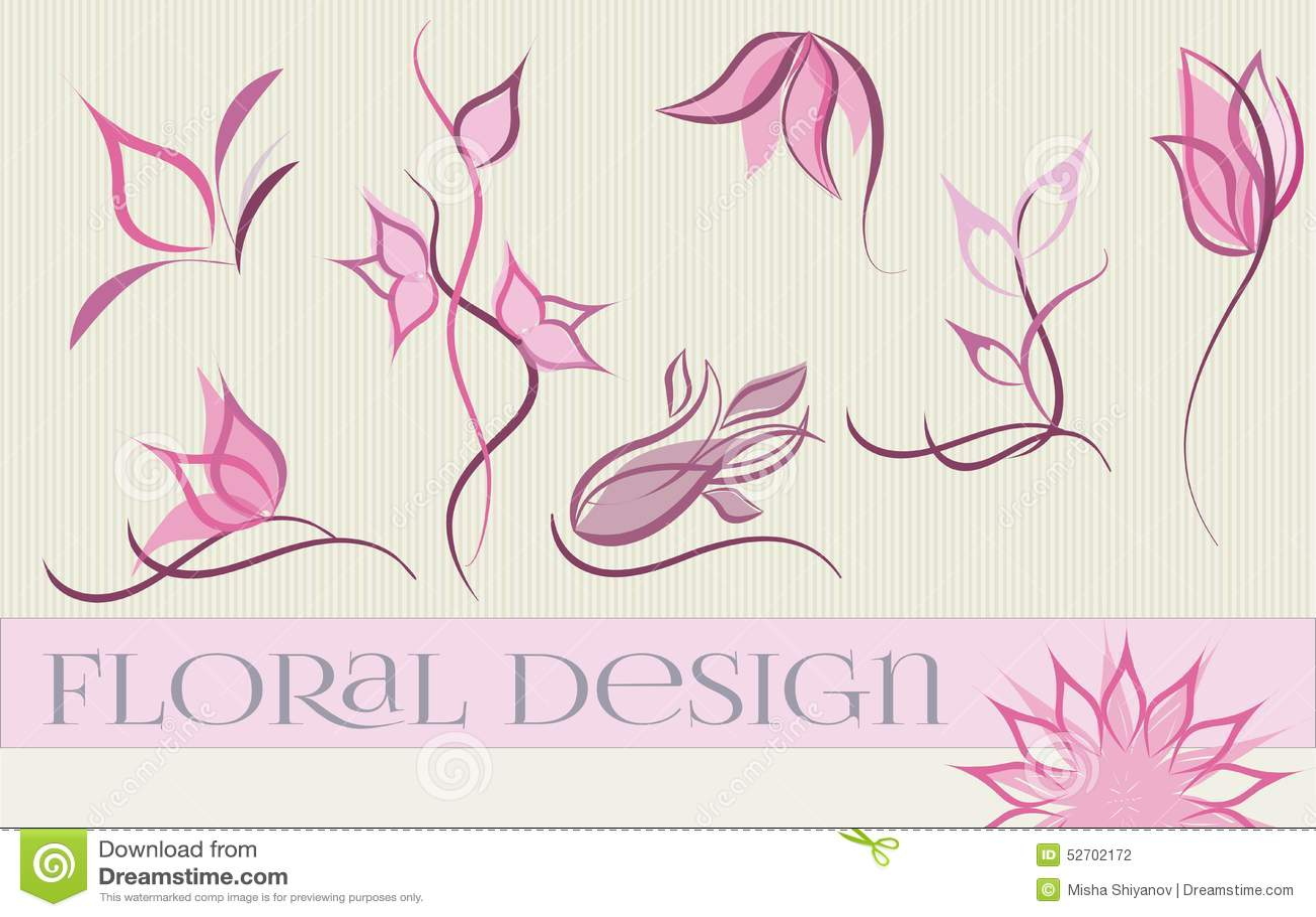 Ensemble de conceptions de logo de fleur