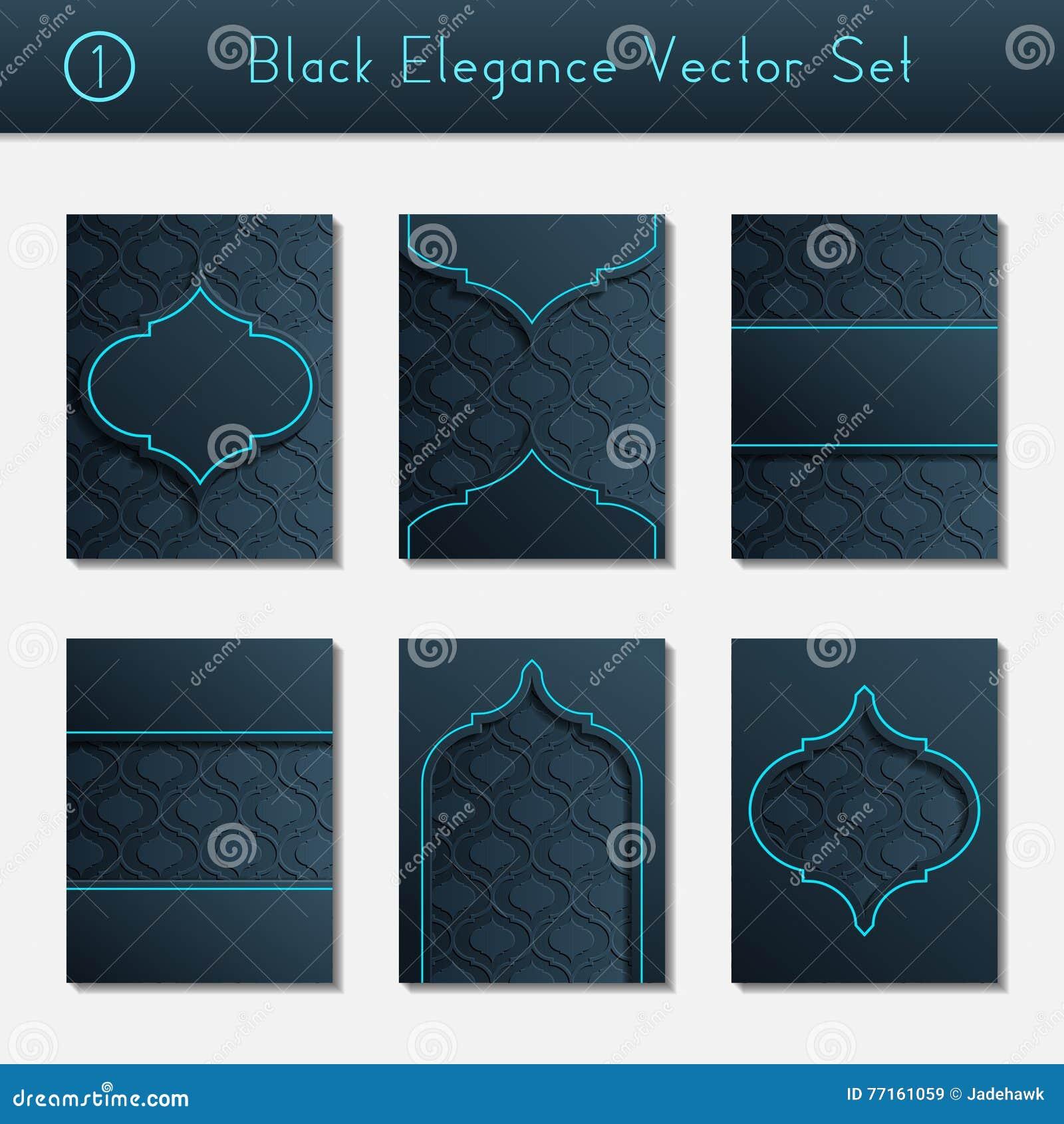 Ensemble de conceptions noires complexes de brochure