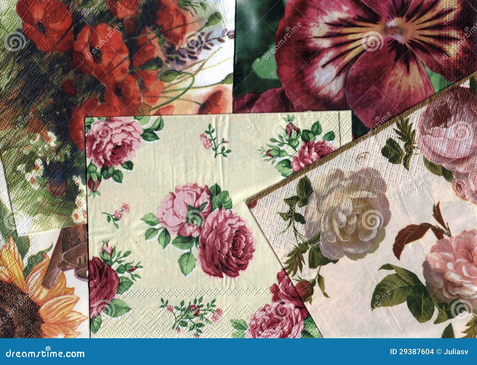 Ensemble de configurations florales ornementales décoratives