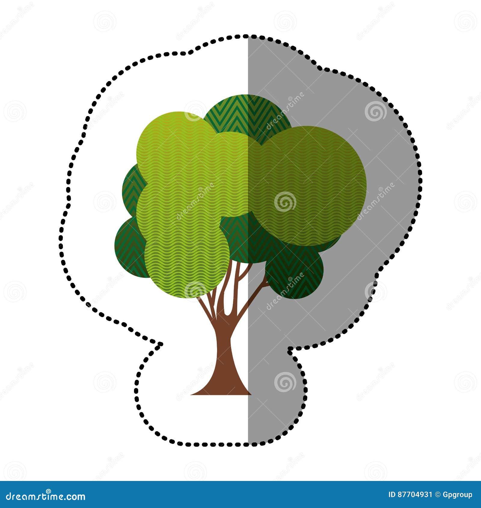 Ensemble de couleur d icône abstraite d arbre