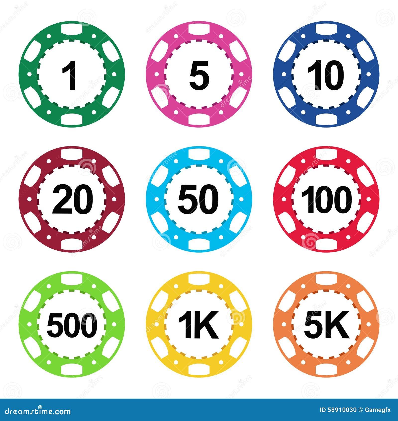 Jetons poker valeur couleur