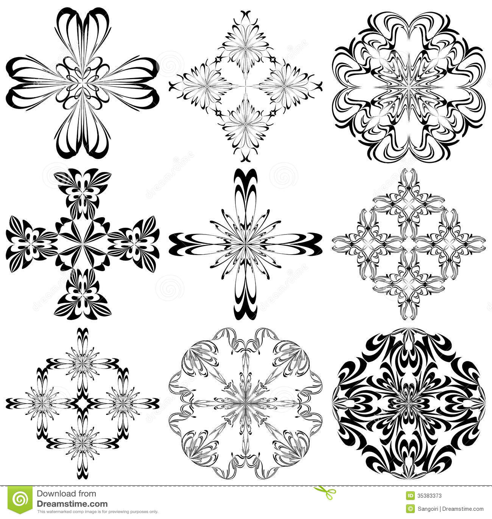ensemble de croix baroques photos stock image 35383373. Black Bedroom Furniture Sets. Home Design Ideas