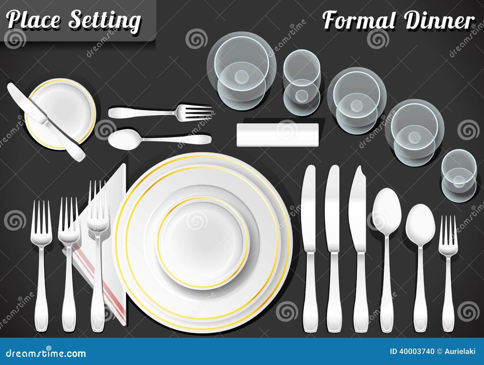 Ensemble de dîner formel de couvert