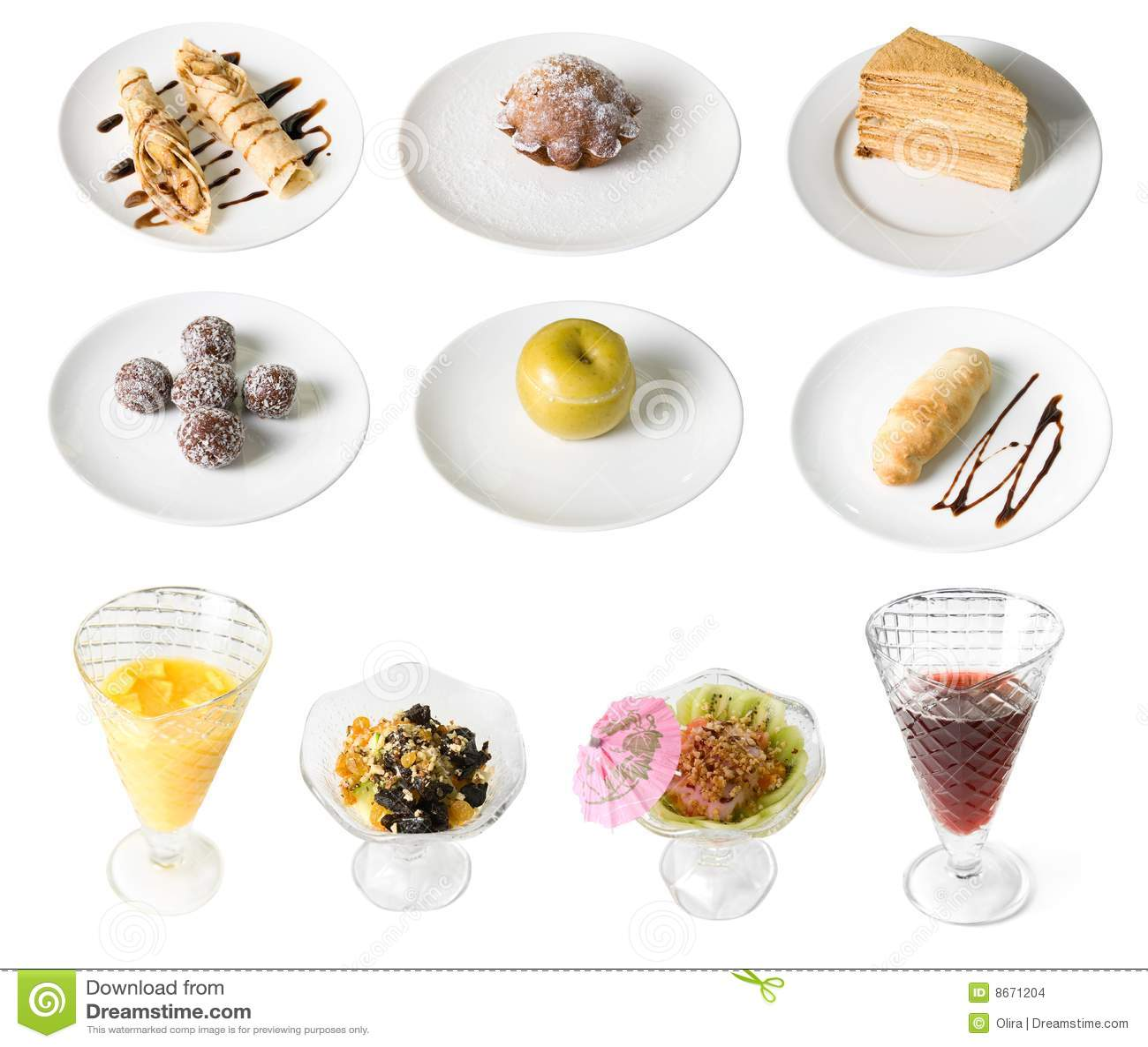 Ensemble de desserts