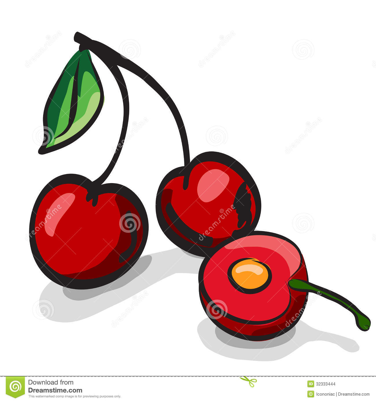 Ensemble de dessin de croquis de fruits de cerise illustration stock illustration du nutrition - Dessin cerise ...