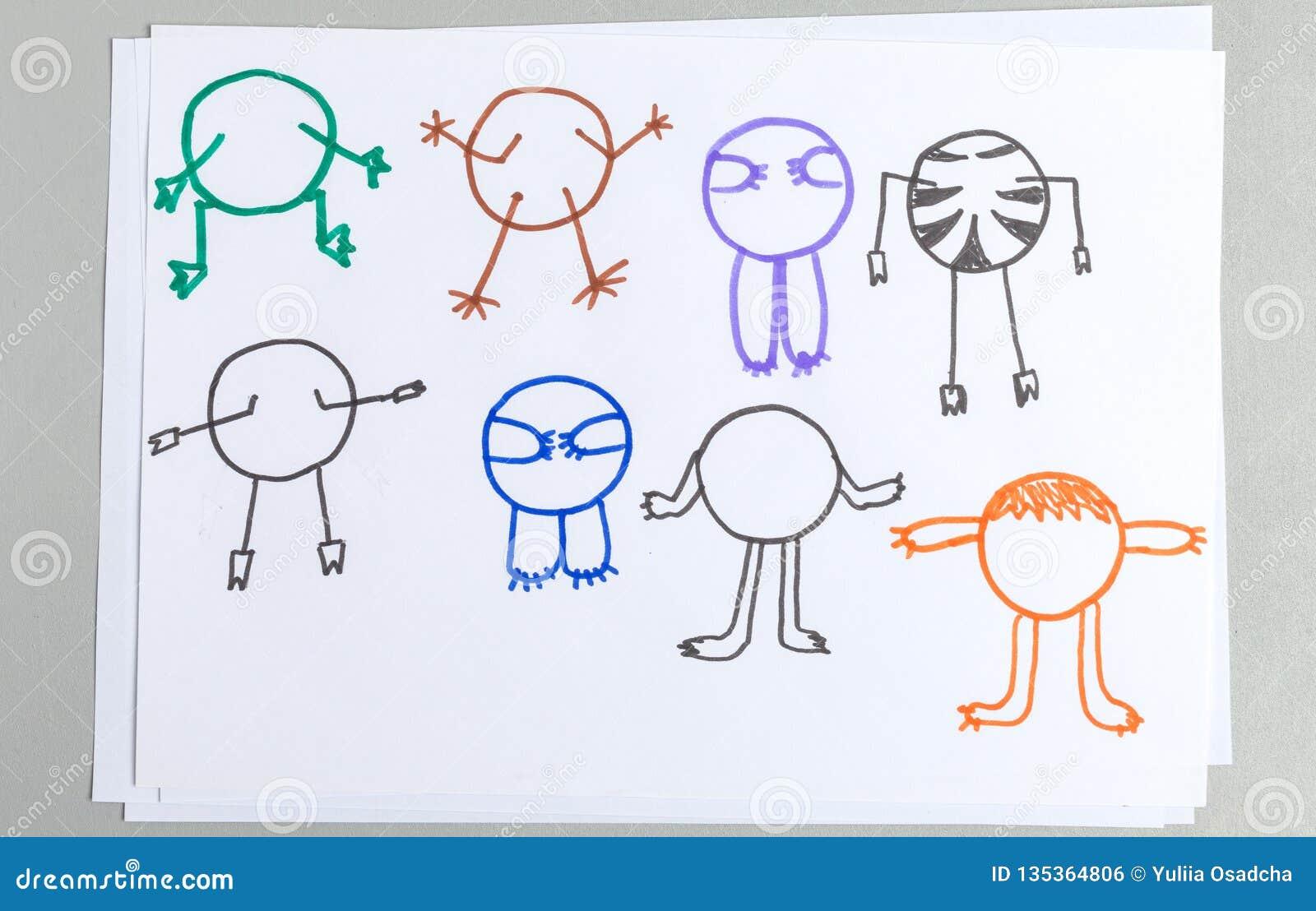 Ensemble de dessins d enfant de corps animal différent avec des bras et des jambes