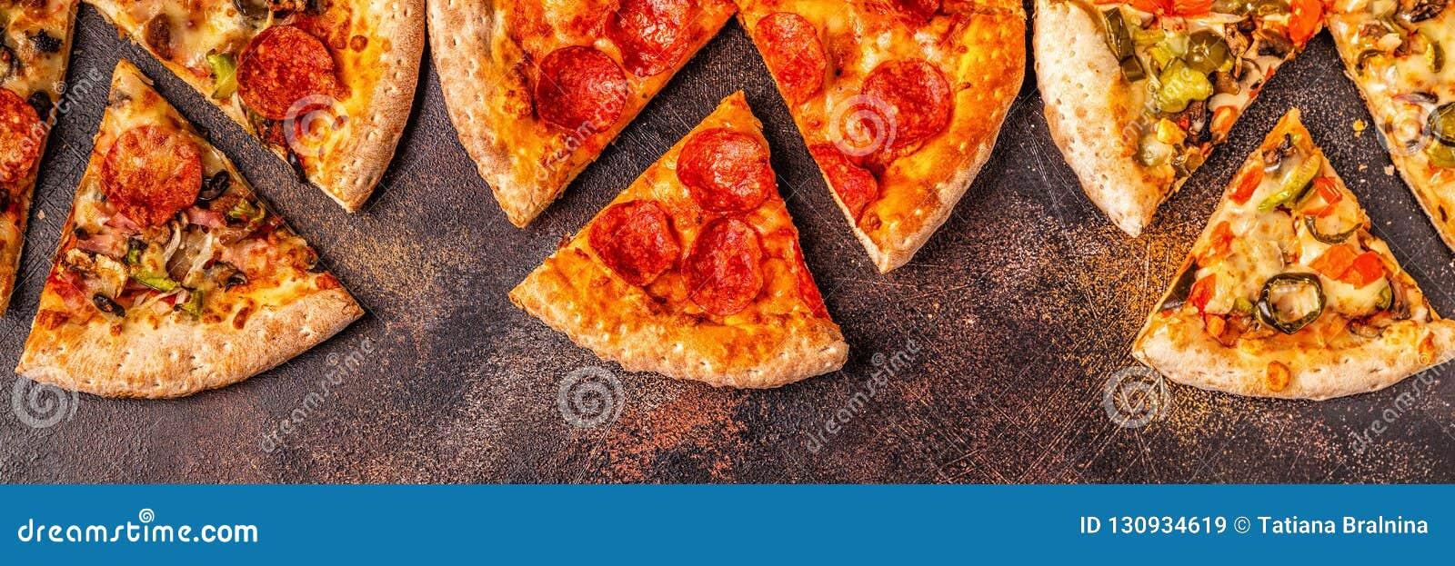 Ensemble de différentes pizzas