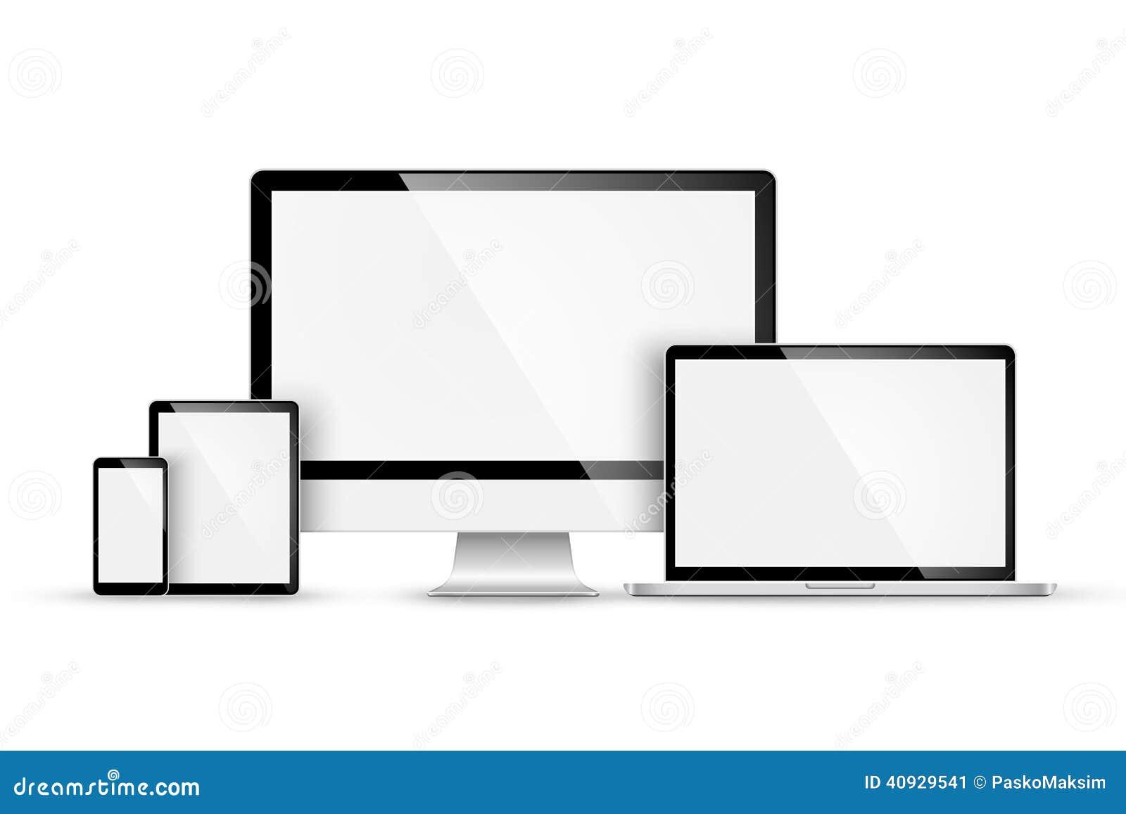 Ensemble de dispositifs modernes Vecteur