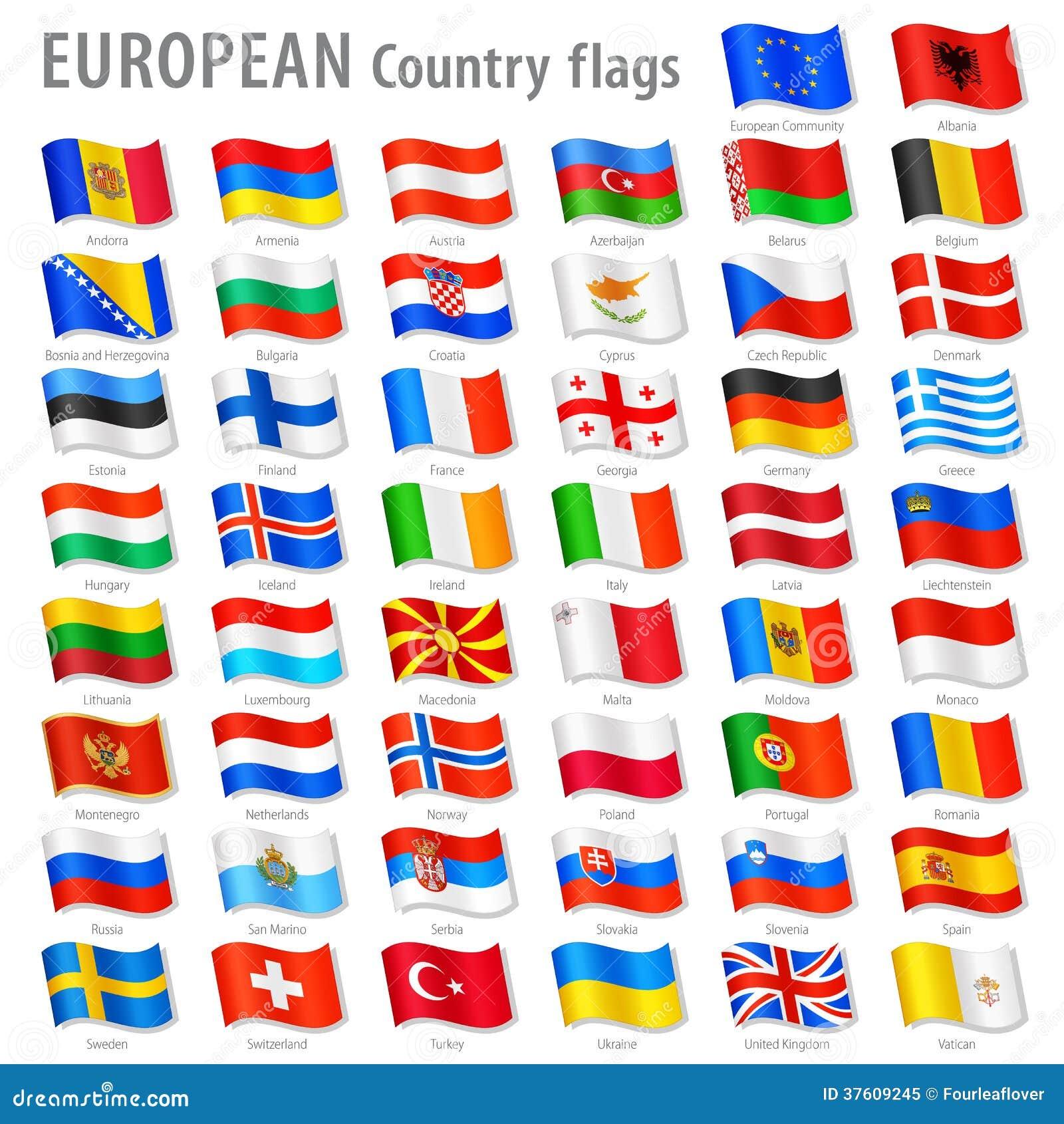 ensemble de drapeau national de l 39 europe de vecteur illustration de vecteur illustration du. Black Bedroom Furniture Sets. Home Design Ideas