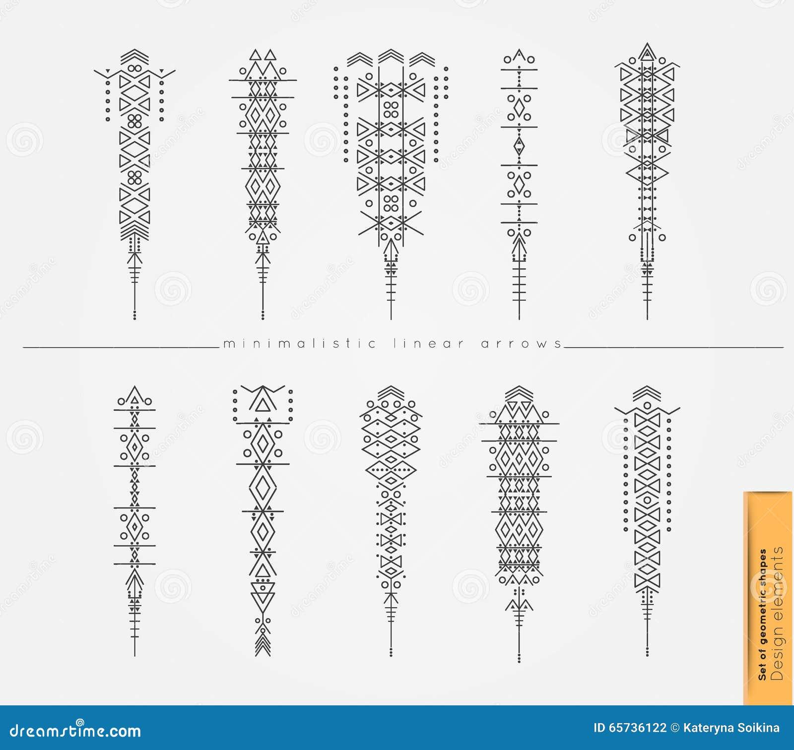 Les Fleches Decoratives De Boho Ethnique Ont Place Dans Le Style De