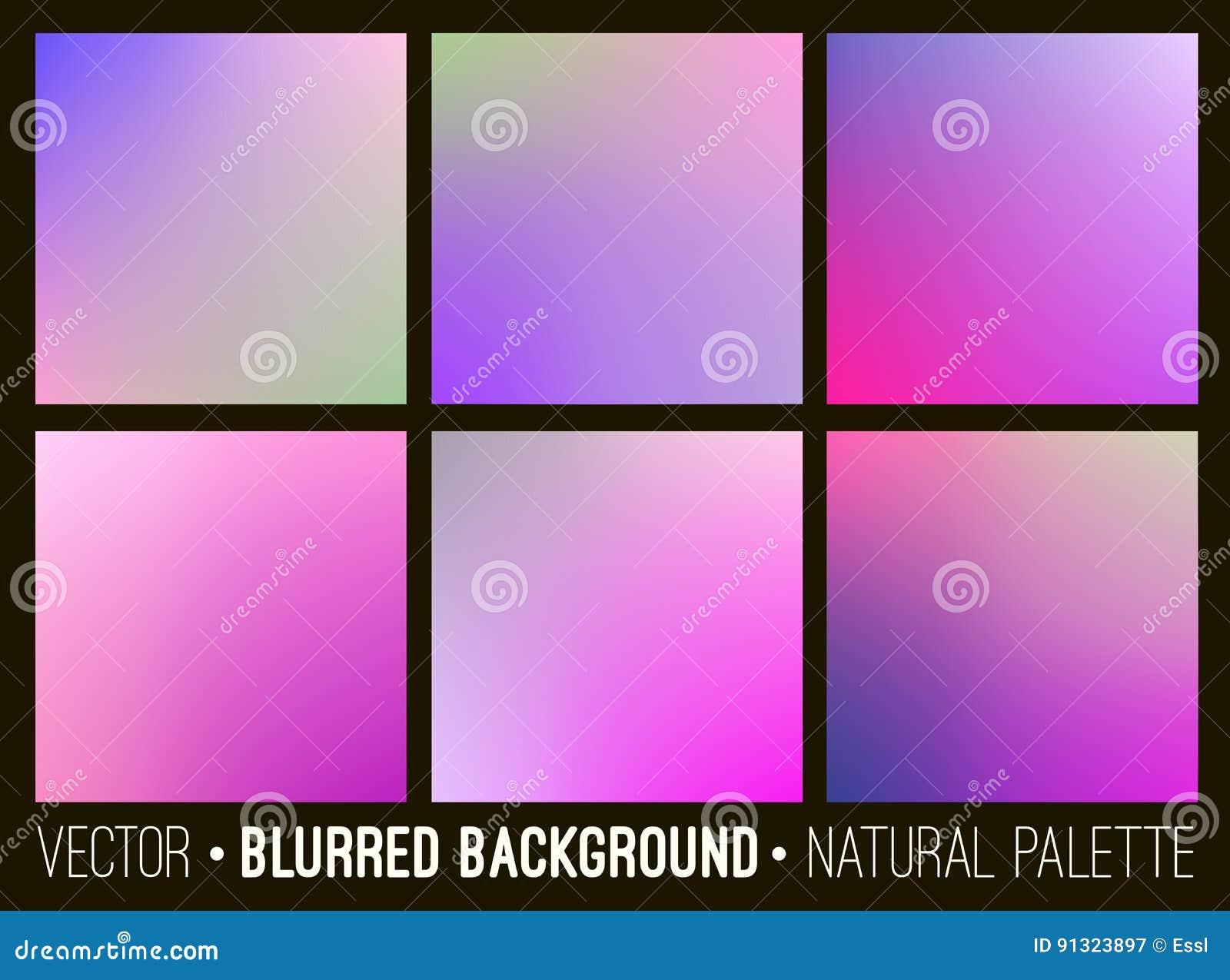 Ensemble De Fond Brouille Par Resume De Couleur Palette Violette