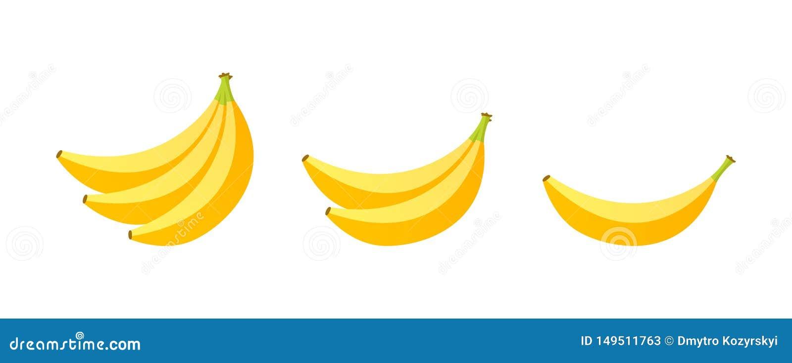 Ensemble de fruits Collection de fruit d été Banane de fruits Végétarien et nourriture d écologie Illustration de vecteur