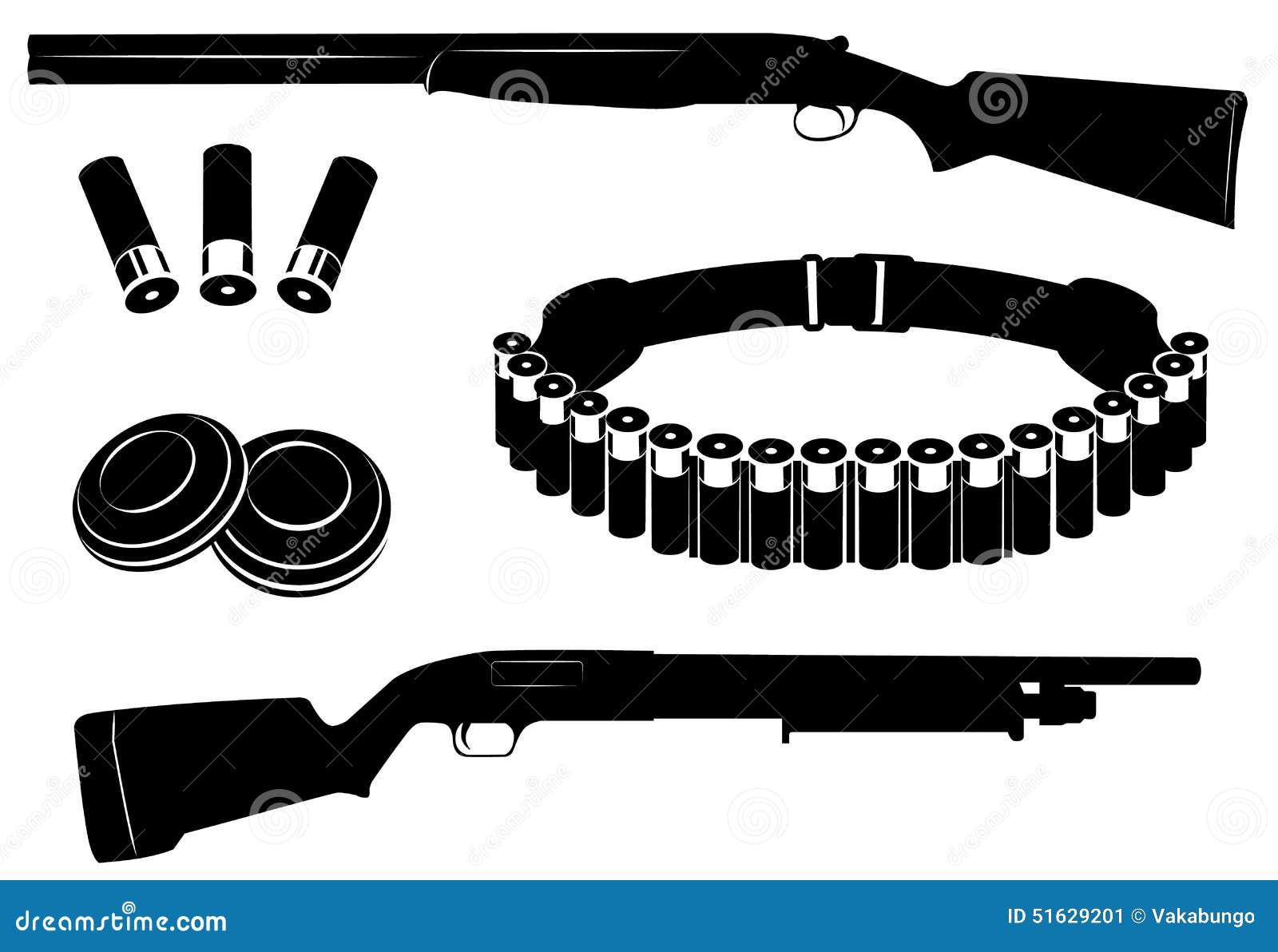 Ensemble de fusil de chasse et d 39 quipement de chasse - Equipement de chasse ...
