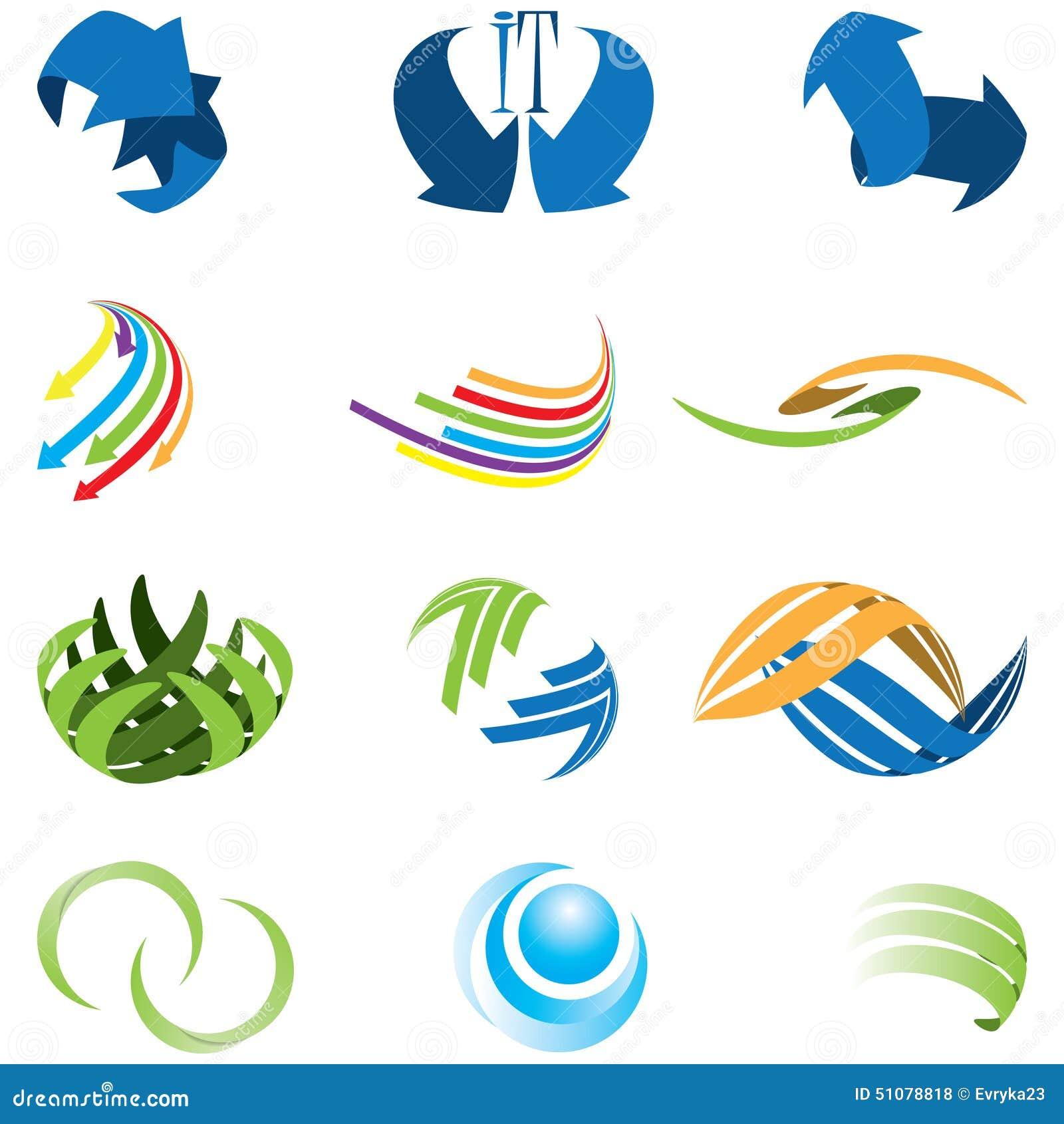 Ensemble de genre différent de symbole abstrait d icône