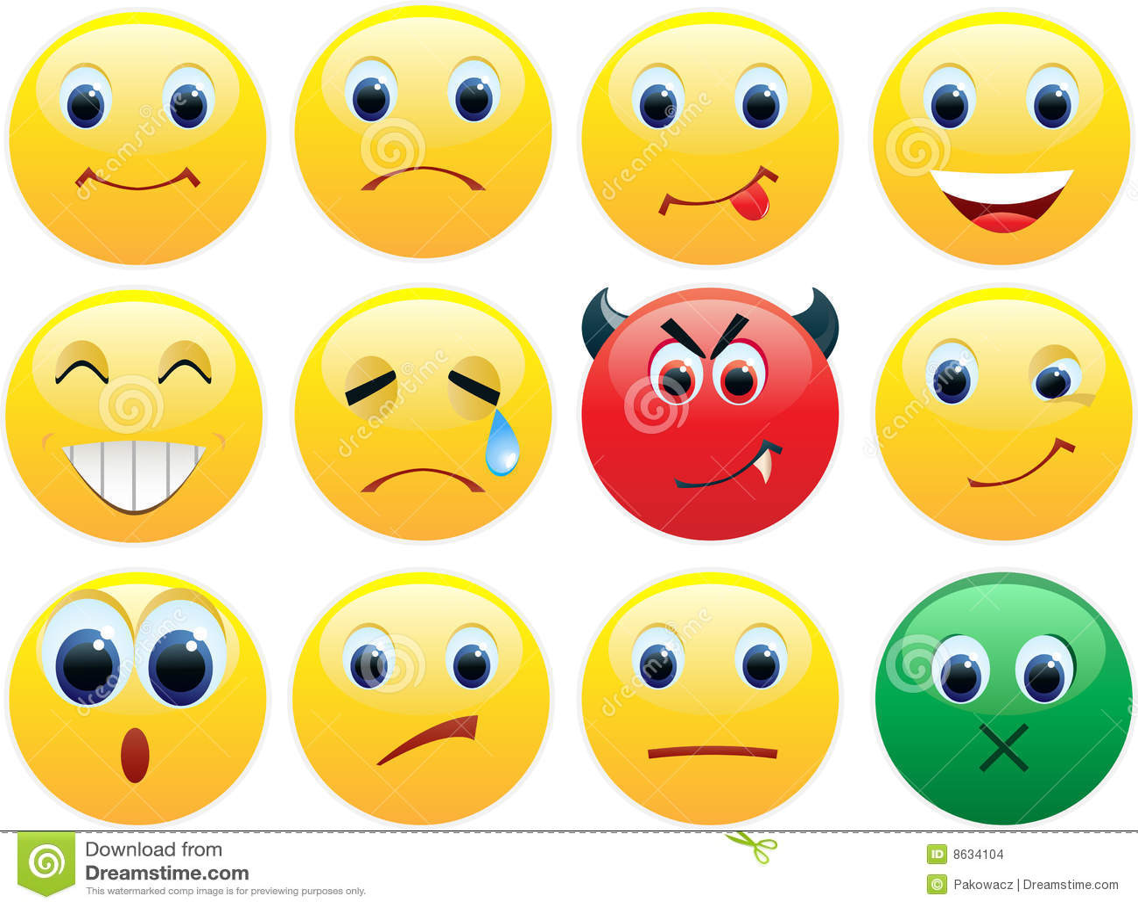 Ensemble de graphismes brillants de sourires