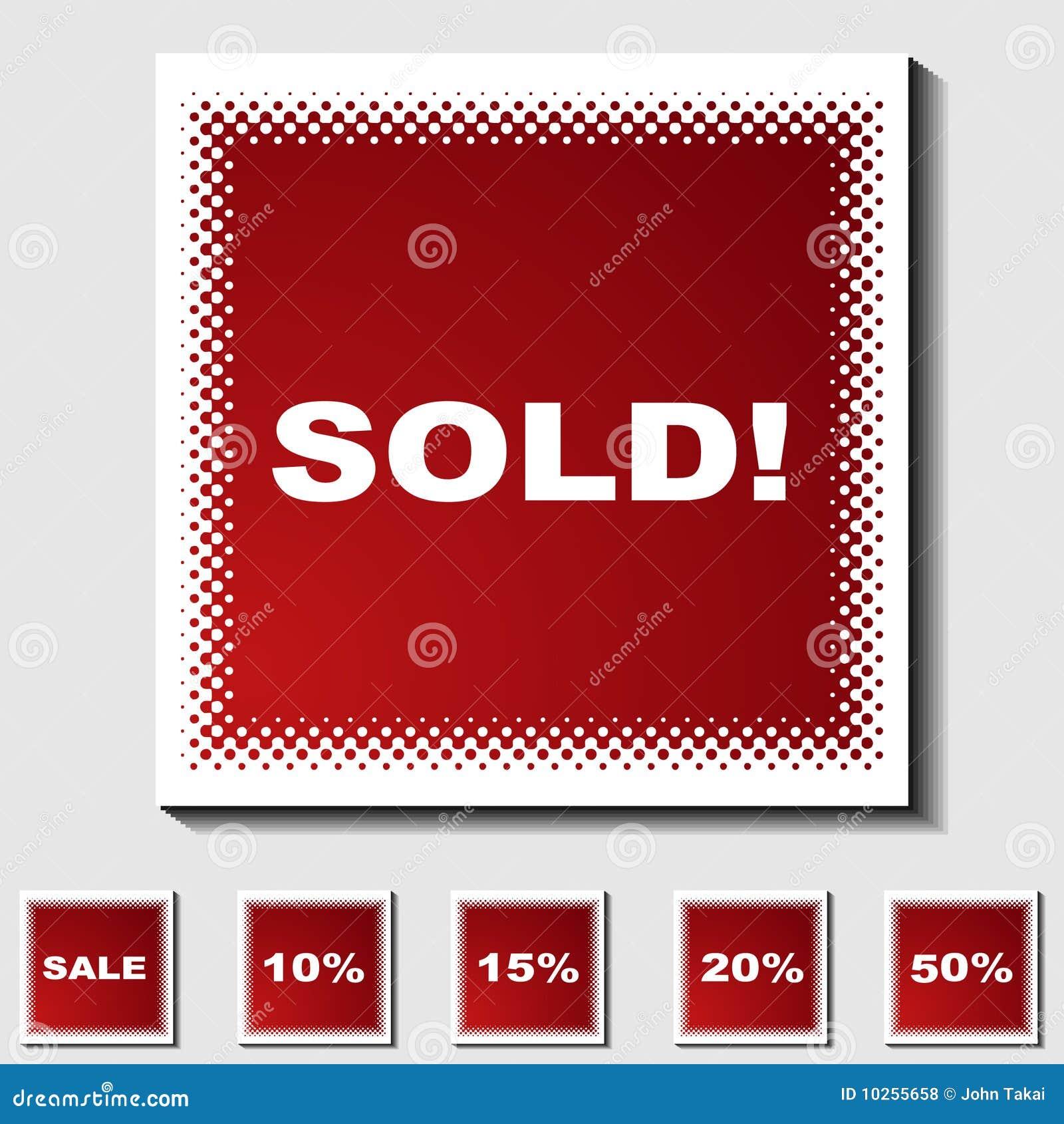 Ensemble de graphismes carrés - image tramée - vendus