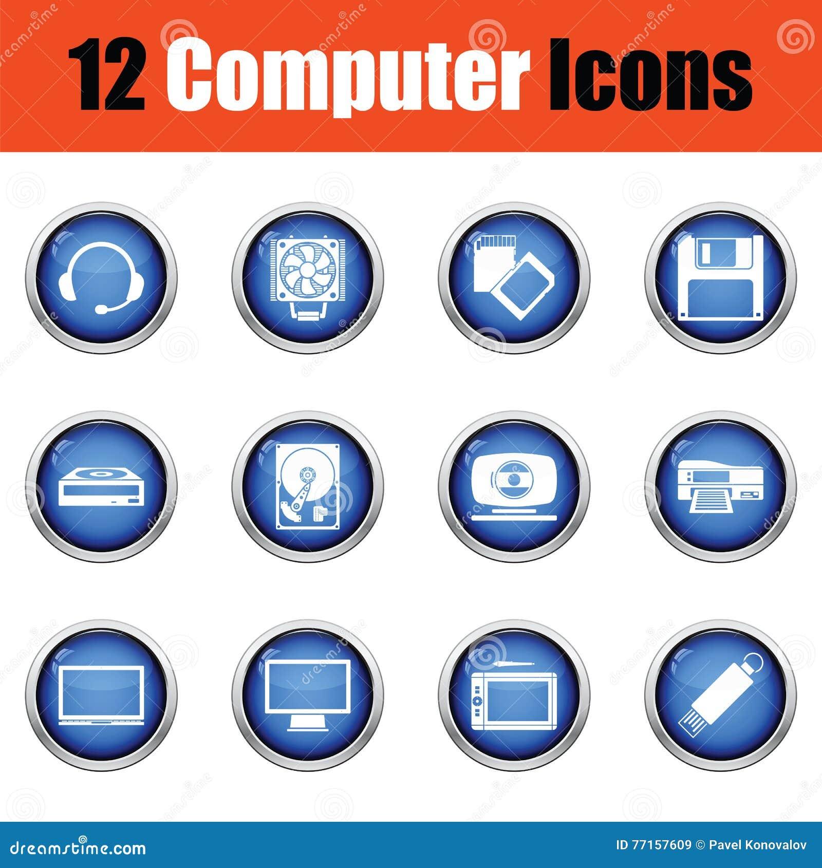 Ensemble de graphismes de l ordinateur icons