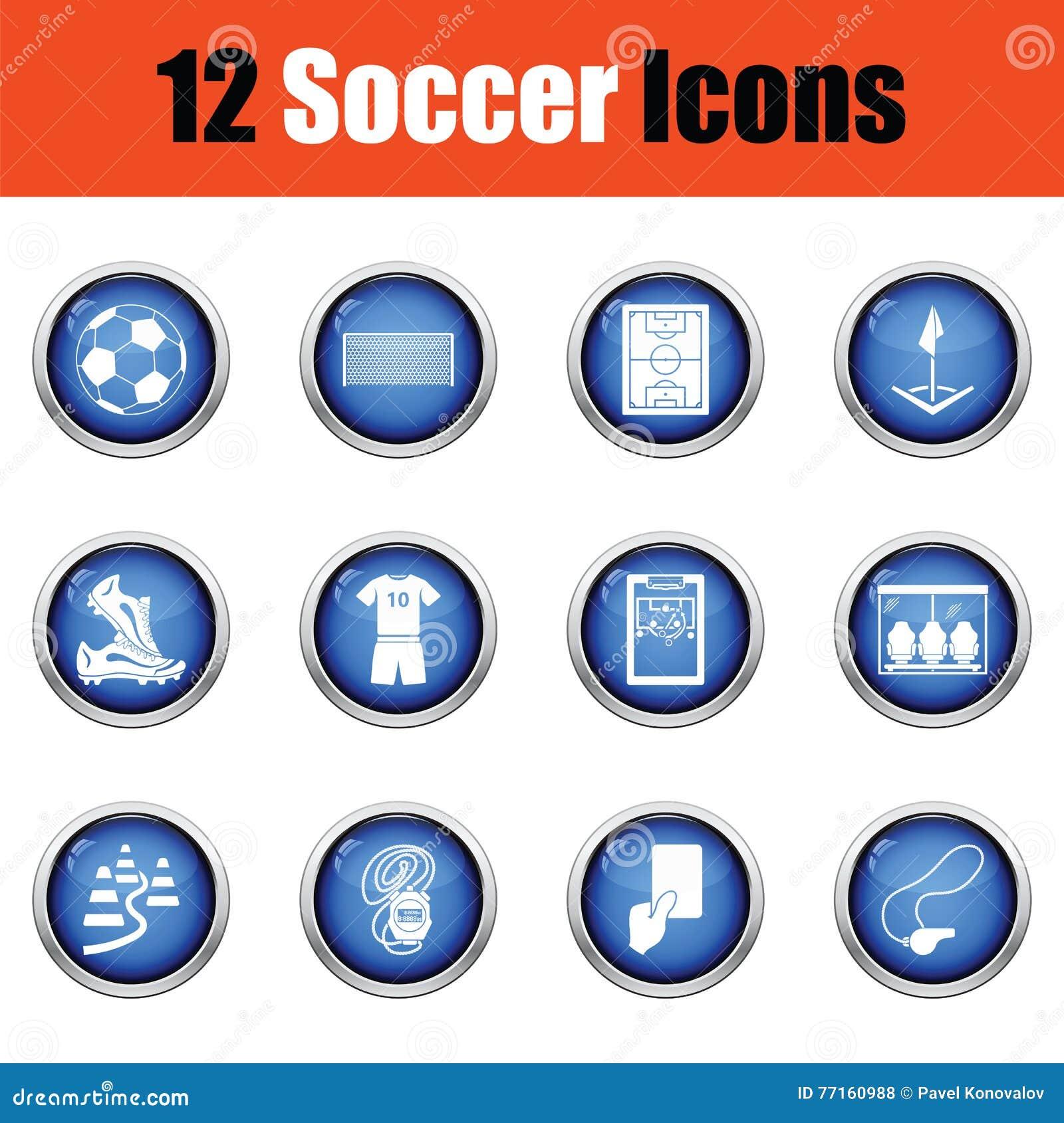 Ensemble de graphismes du football