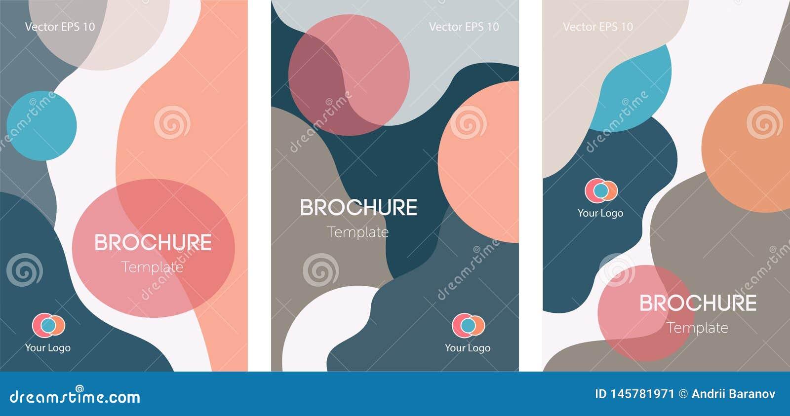 Ensemble de l AFFICHE 07 de brochures d insectes avec les cercles et le fond onduleux