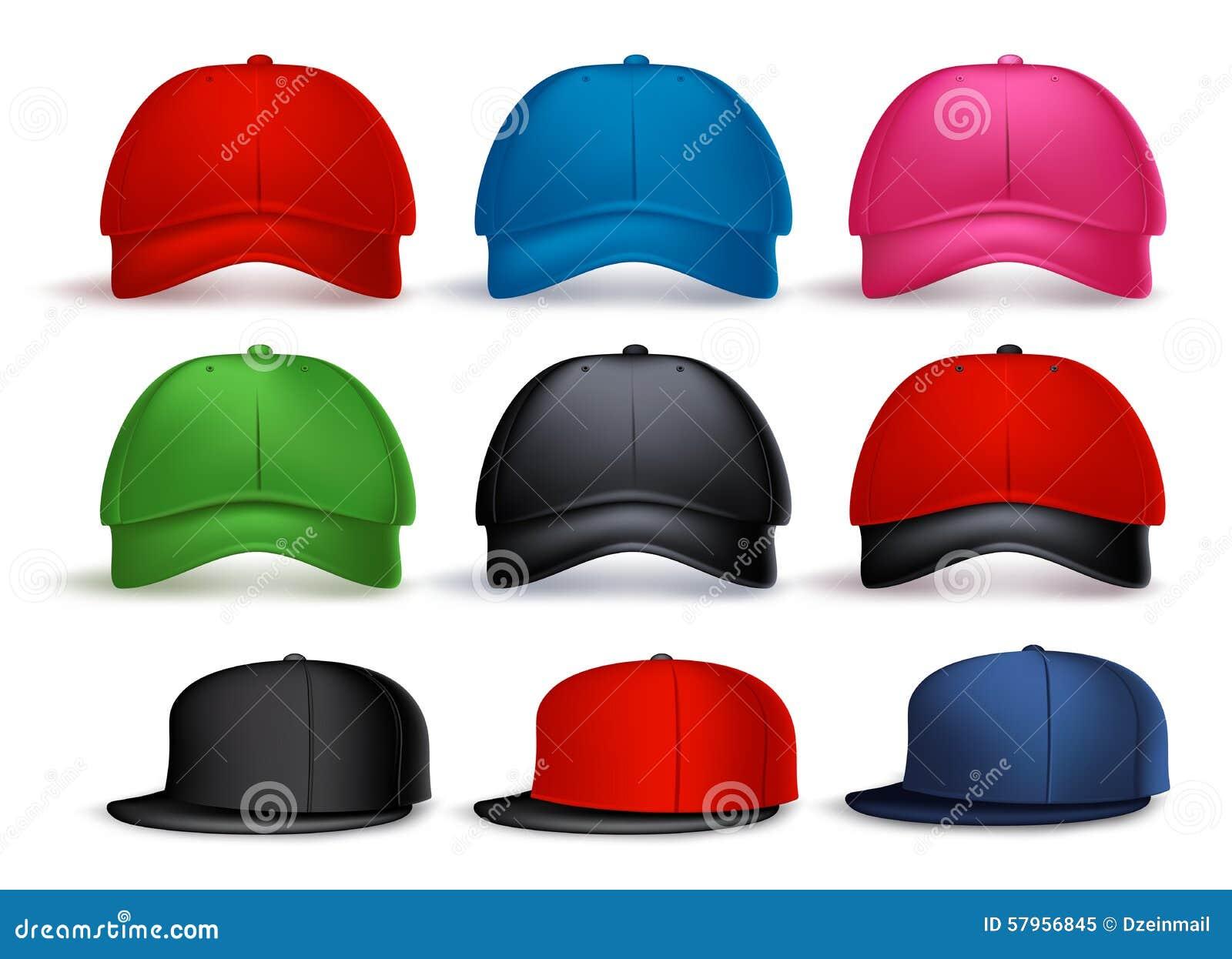 Ensemble de la casquette de baseball 3D réaliste pour l homme avec la variété de couleurs