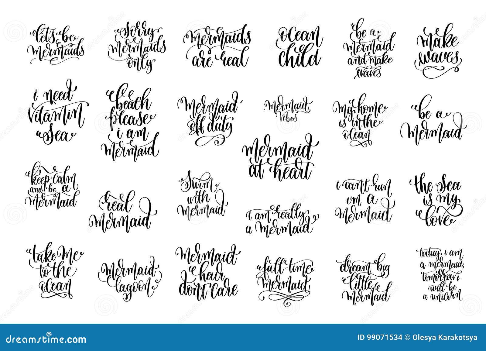 Ensemble de la main 25 à l encre noire écrite marquant avec des lettres la citation positive