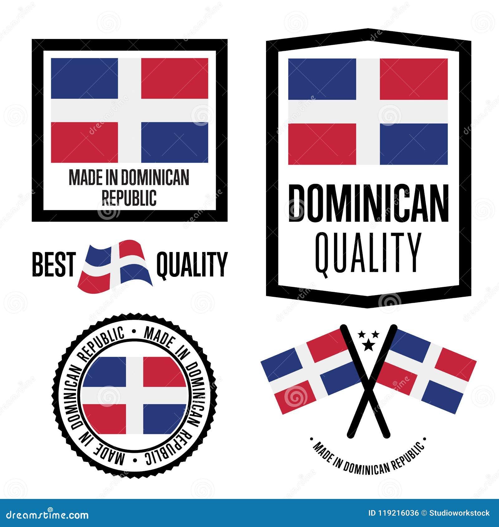 Ensemble de label de qualité de la République Dominicaine pour des marchandises