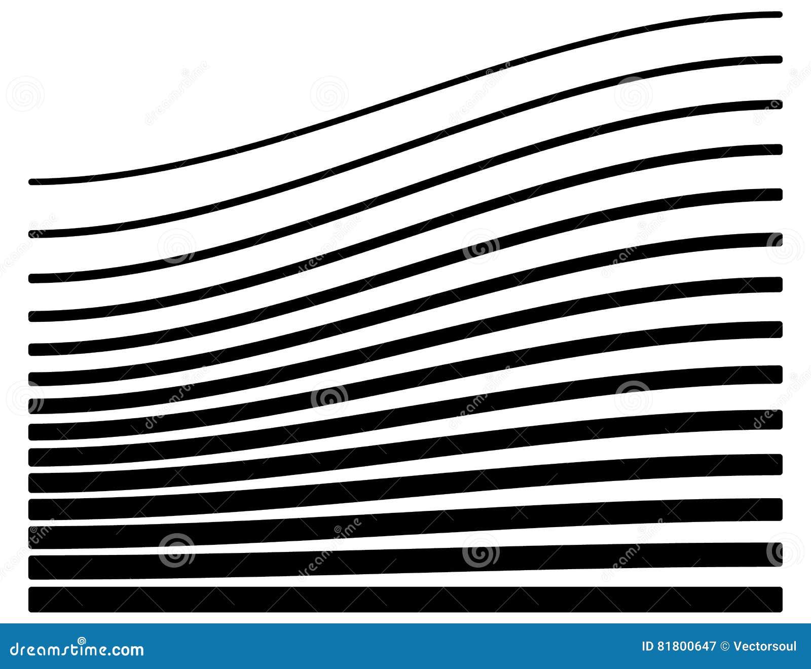 Ensemble de lignes avec le niveau différent de la déformation Geome abstrait