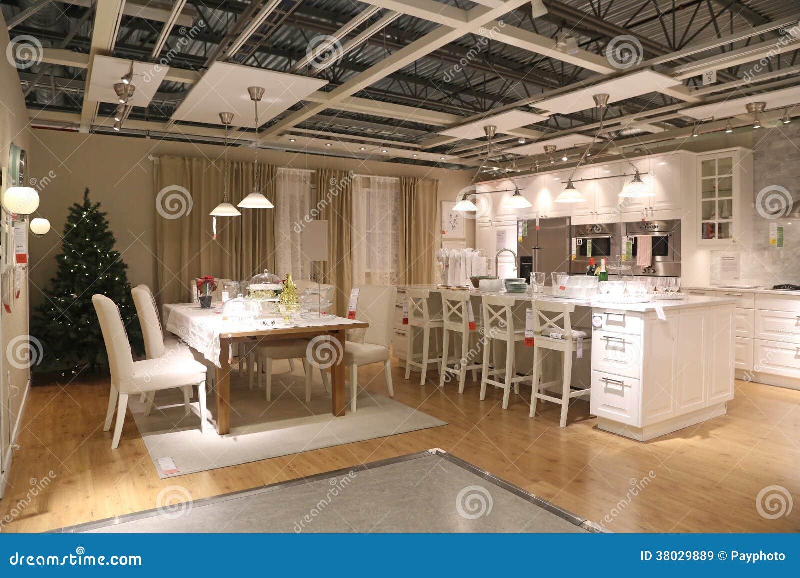 ensemble de meubles d 39 affichage de magasin d 39 ikea coquitlam image stock ditorial image du. Black Bedroom Furniture Sets. Home Design Ideas