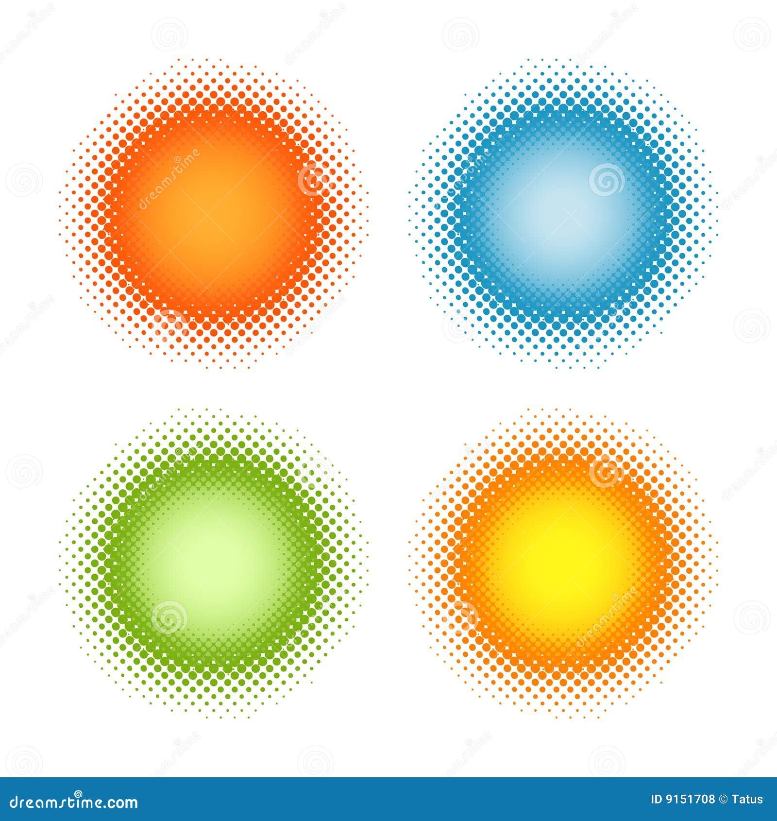 Ensemble de milieux abstraits colorés