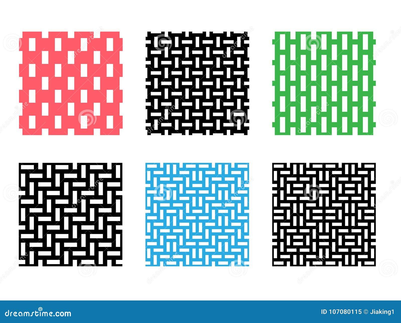 Ensemble De Modèle Sans Couture De Pixel Sur Le Blanc